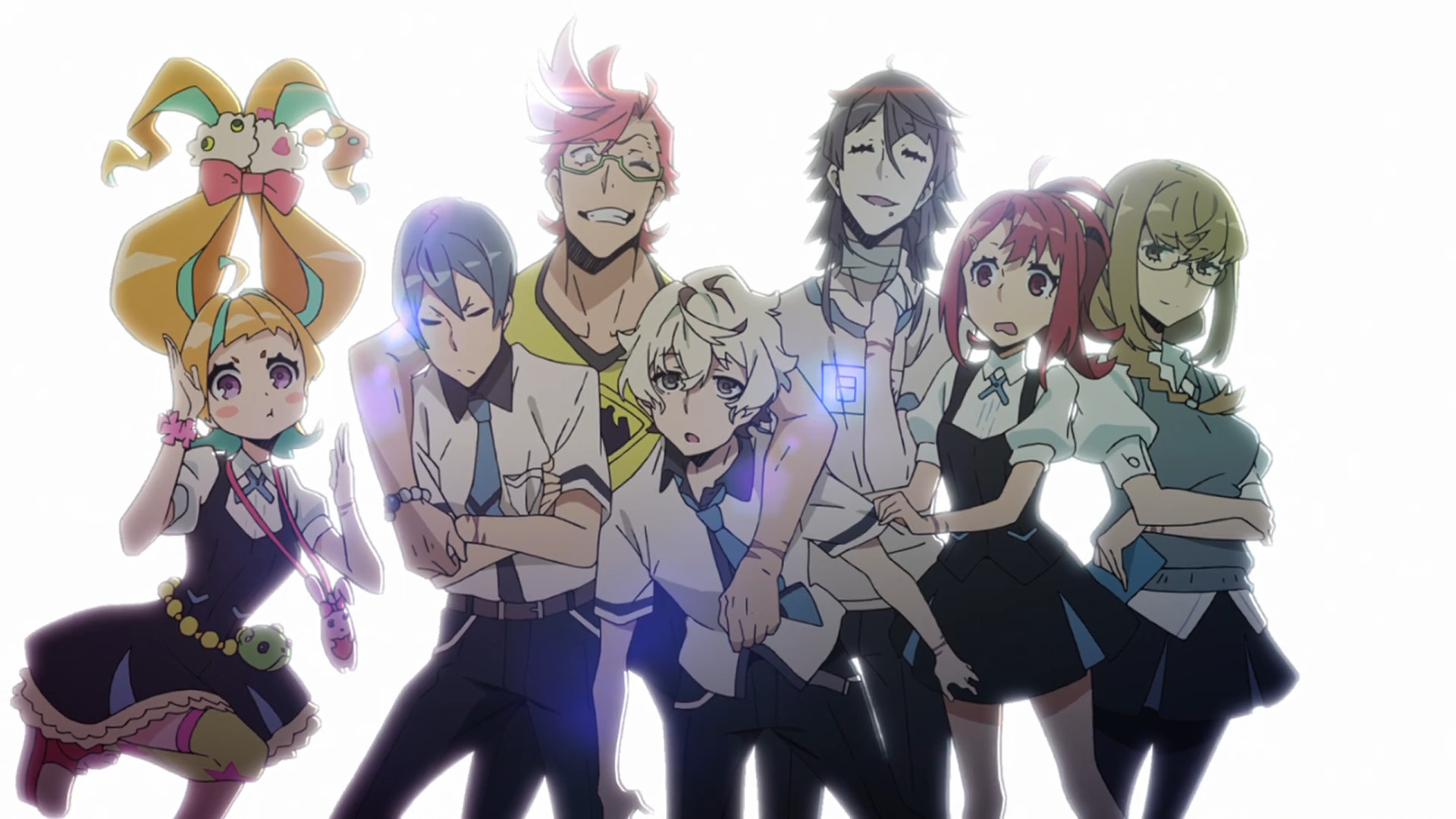 Kiznaiver / Episode 9 / Nico, Yuta, Tenga, Agata, Hisomu, Chidori