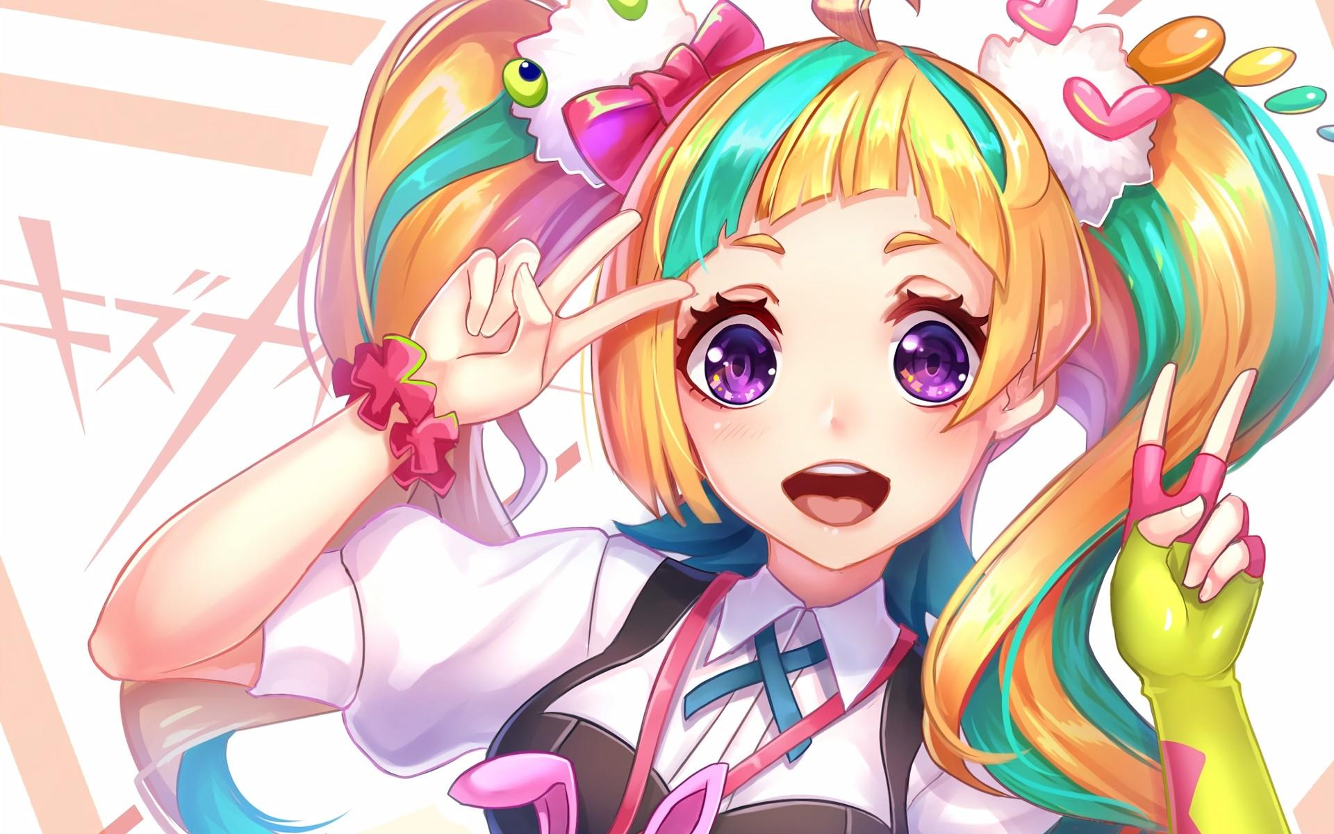 … Niyama Nico Kiznaiver Blonde Smiling anime series character original  wallpaper …