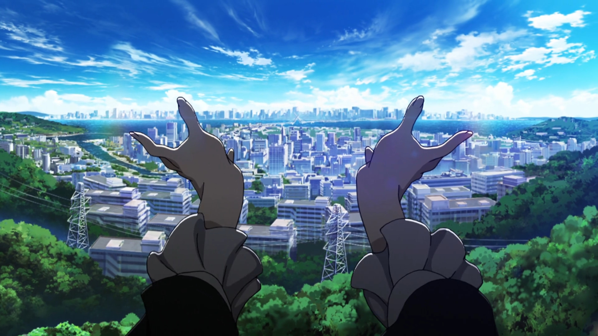 Kiznaiver / Episode 10 / Nori reaching out with her hands