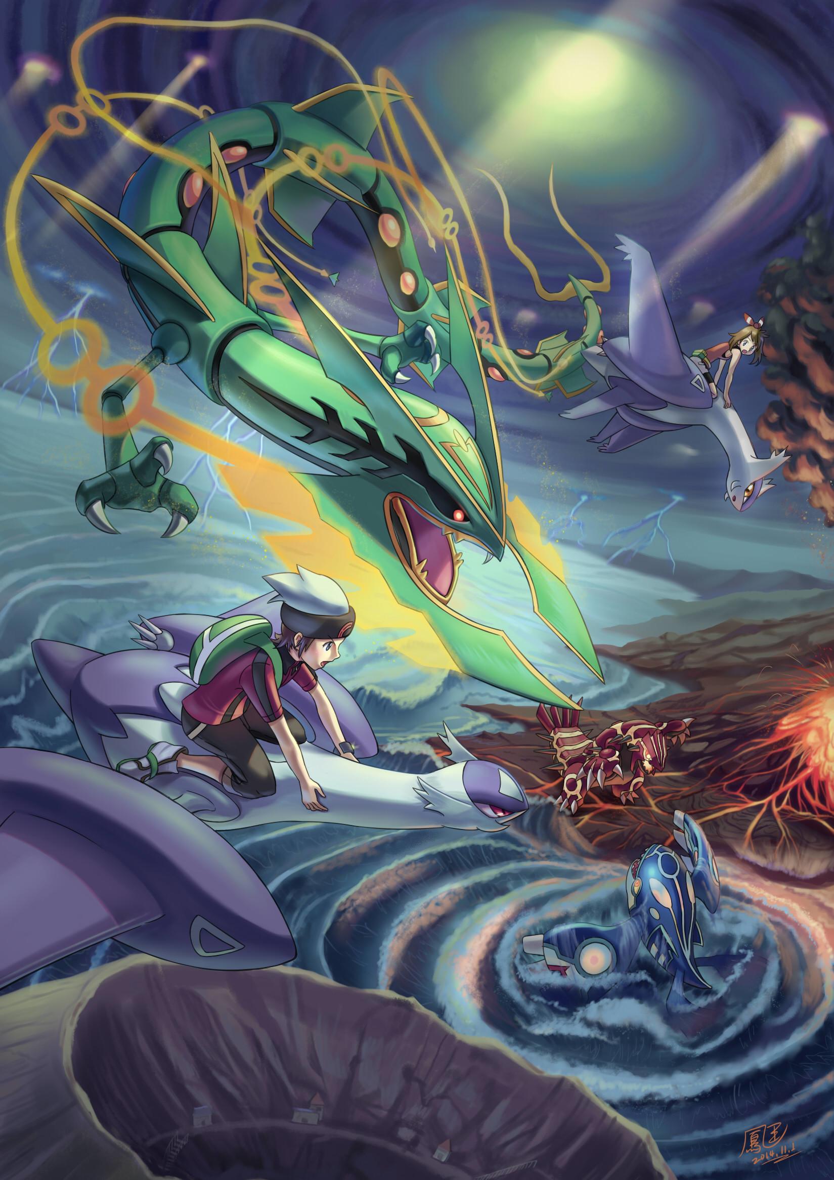 Tags: Anime, Pixiv Id 3512498, Pokémon, Yuuki (Pokémon), Latios
