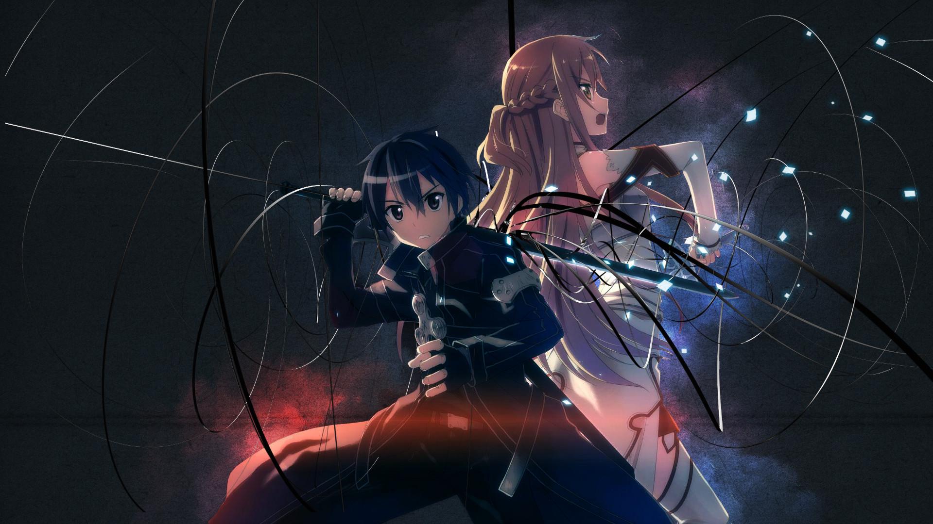 Anime – Sword Art Online Asuna Yuuki Kirito (Sword Art Online) Wallpaper