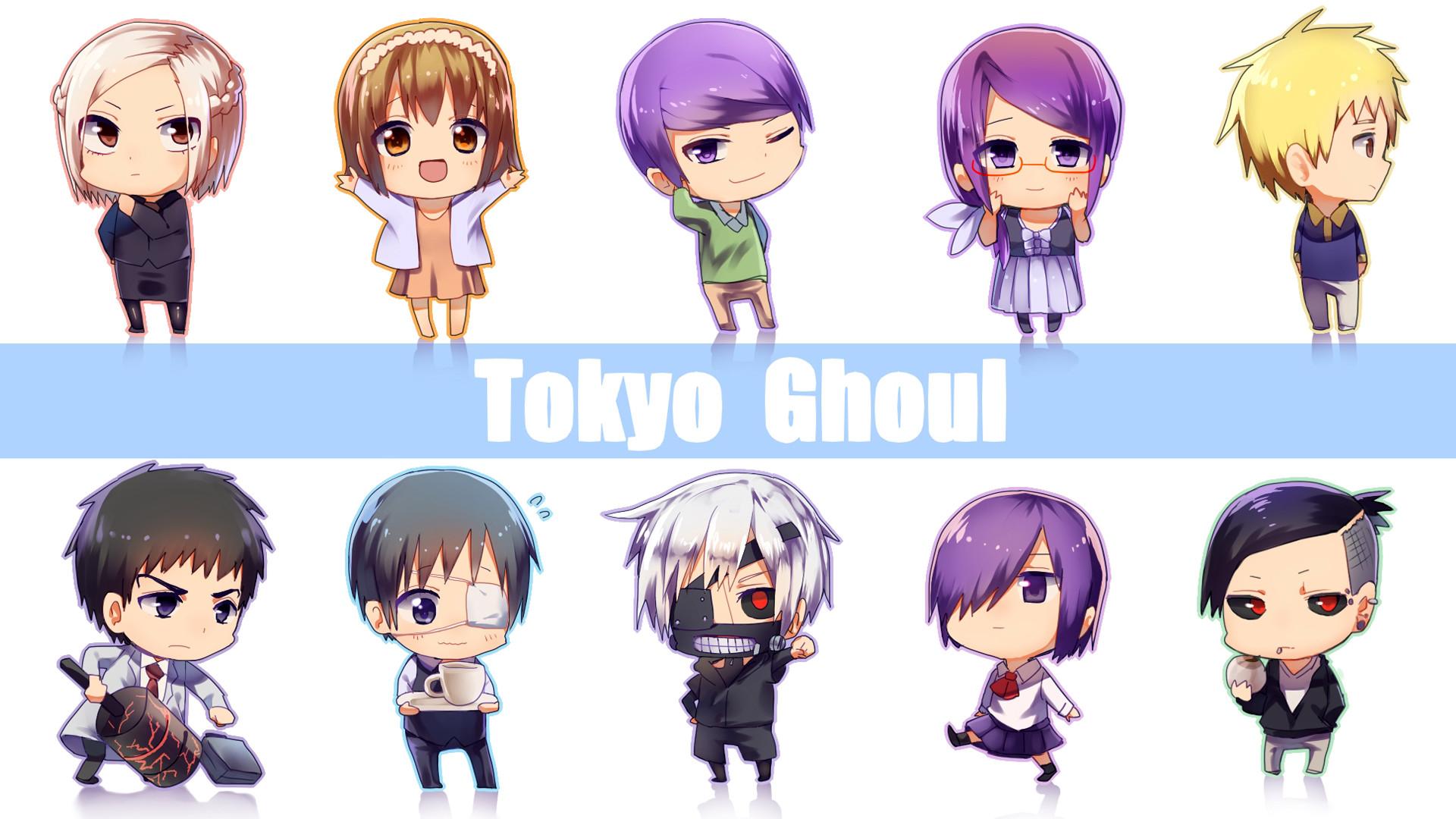 Tokyo Ghoul Chibi Wallpaper bonito do Anime Full HD 1920 × 1080