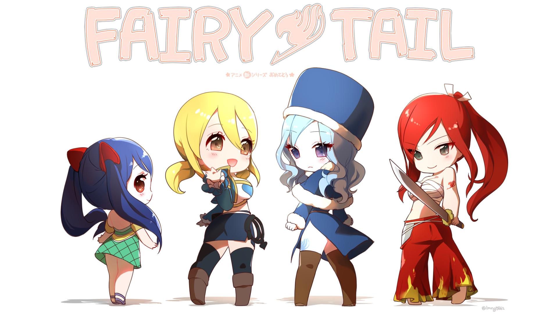 Fairy Tail Chibi Girls Wallpaper HD