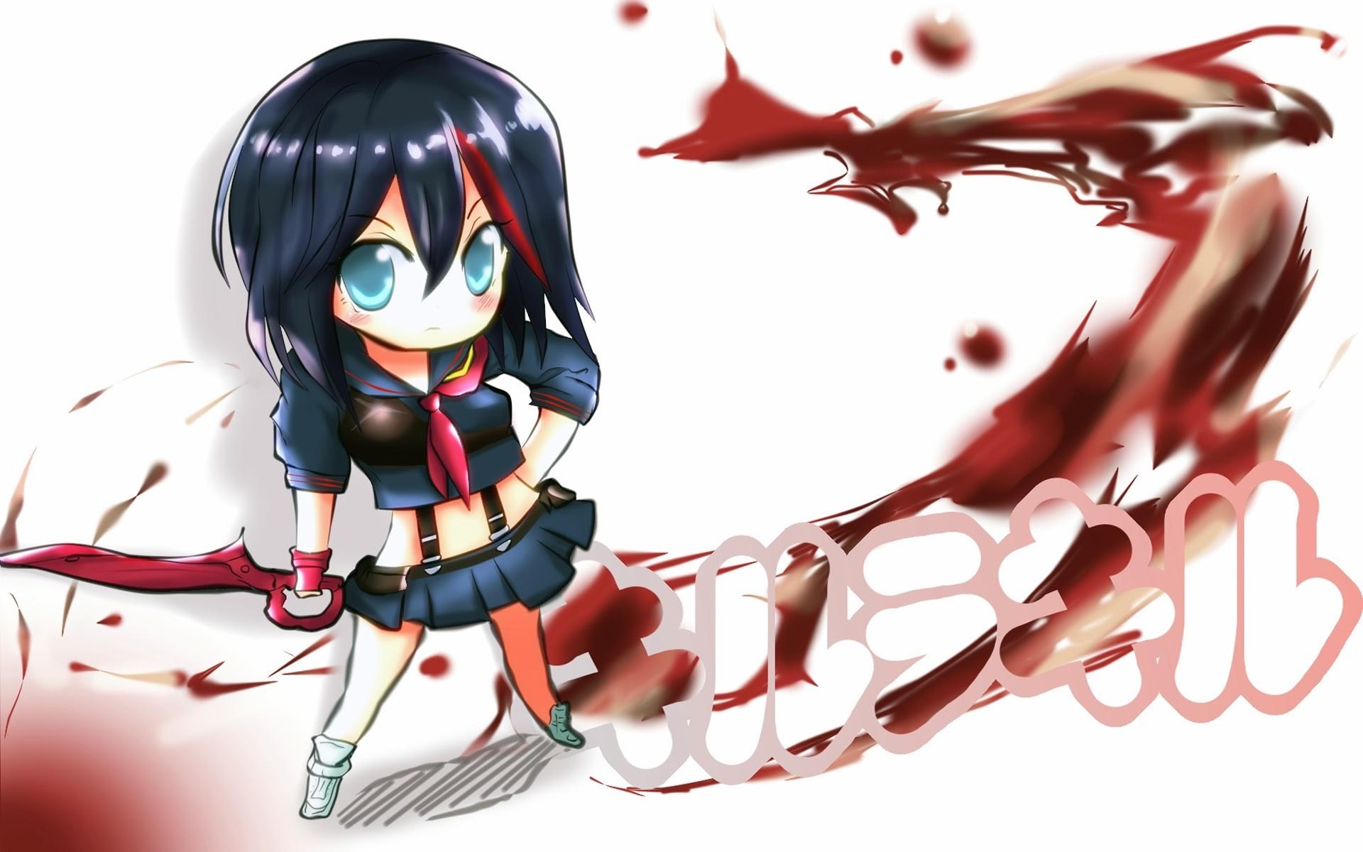 matoi ryuko chibi kill la kill anime girl image hd wallpaper .