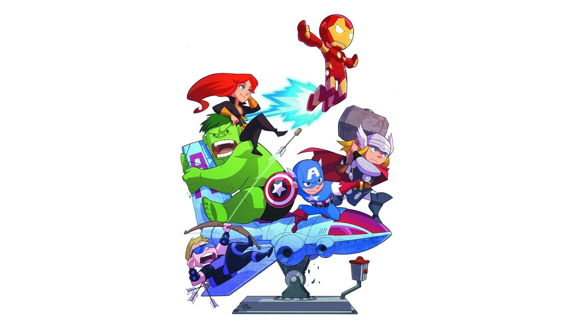 The Avengers Marvel Comics Cute Characters Chibi Funny