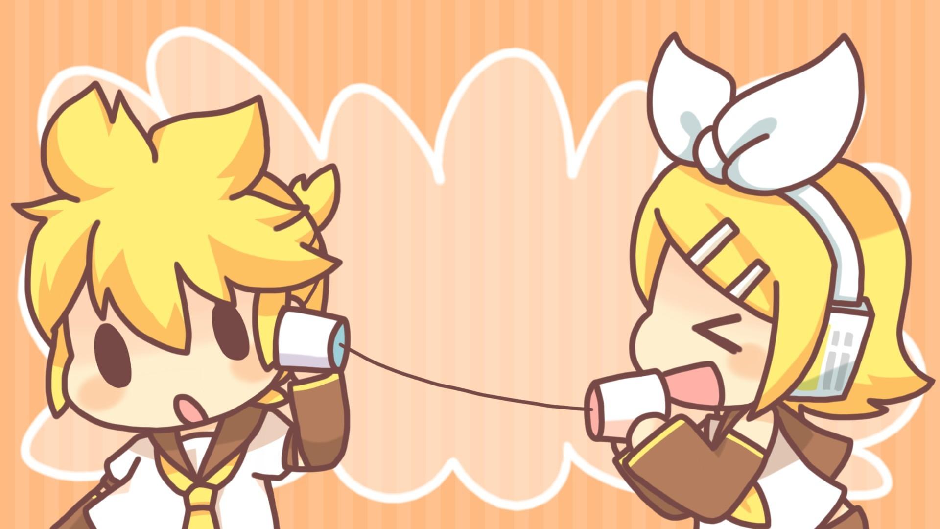 Tags: Anime, VOCALOID, Kagamine Len, Kagamine Rin, Curious, String Telephone