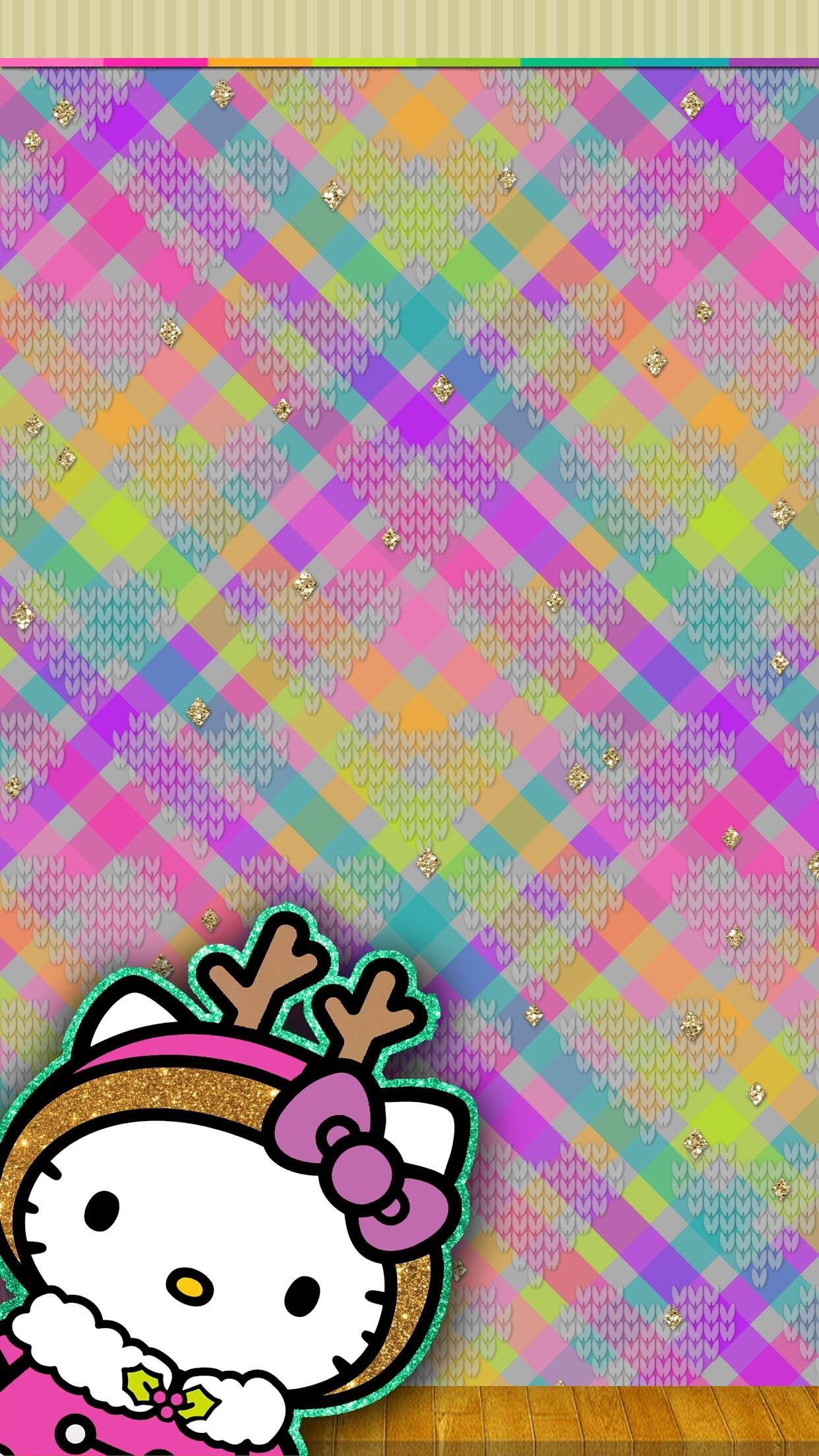Hello Kitty Wallpaper, Christmas Wallpaper, Walls, Phone Wallpapers,  Sanrio, Kawaii, Xmas, Screen, Wallpaper