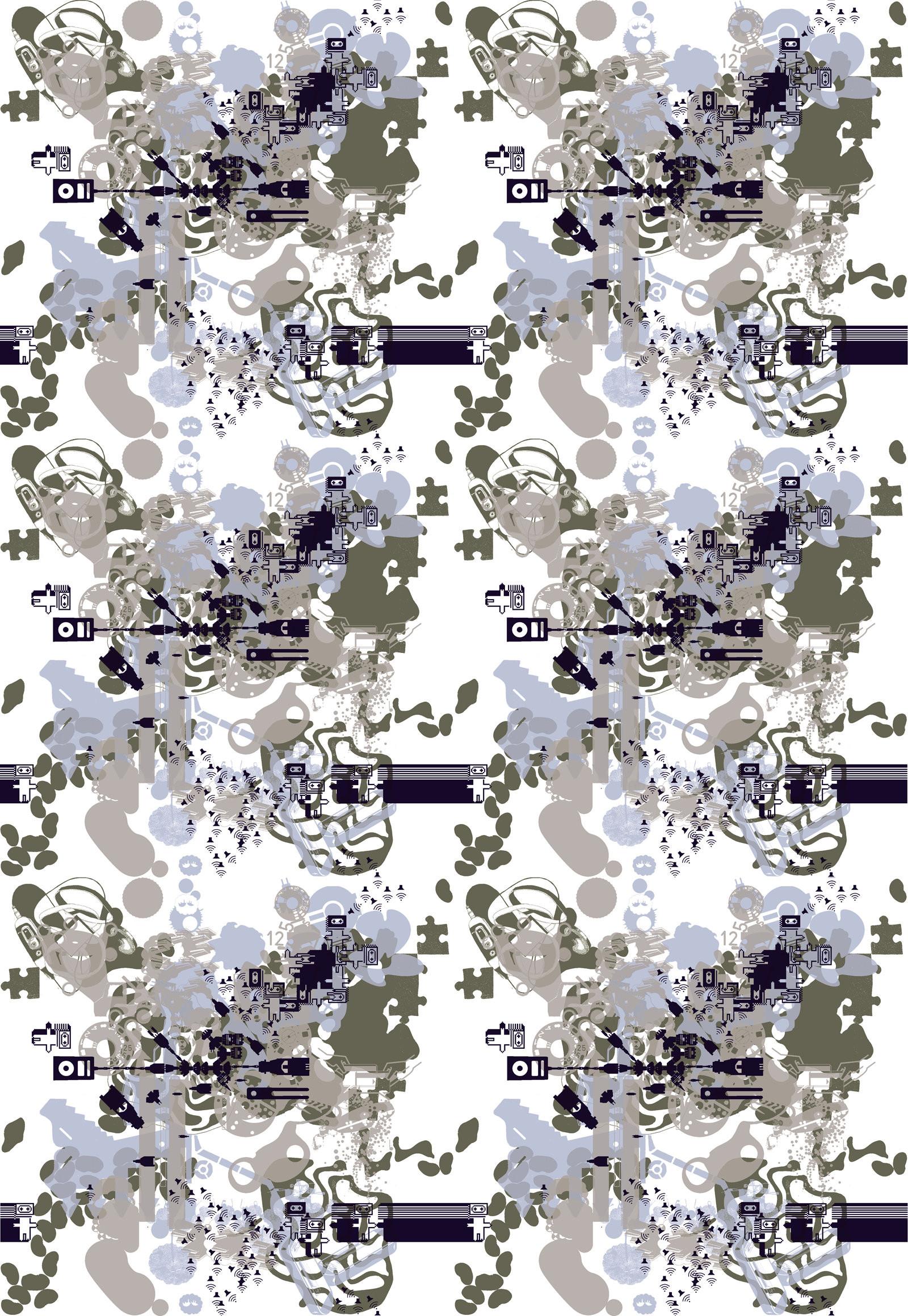 the m/m wallpaper poster 1.2 [vicinato 2 colors] 2000 the m/m wallpaper  poster 1.3 [annlee colors PH] 2001