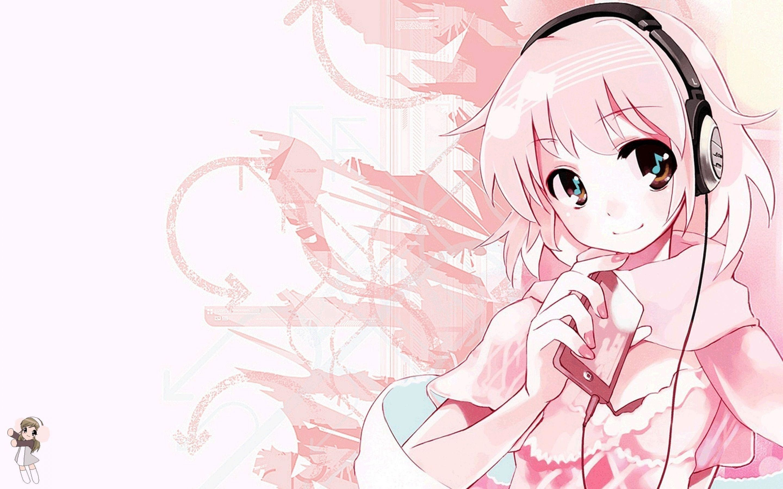 Pink Cute Anime Music Wallpapers HD Desktop #9 #3006 Wallpaper .