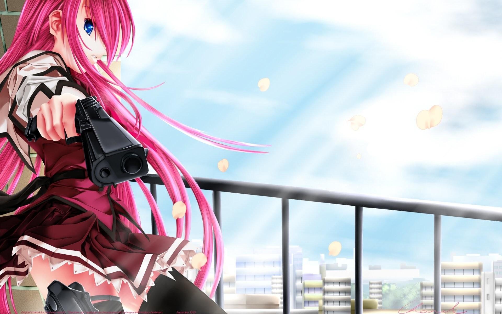 Anime Girl With Gun 937603