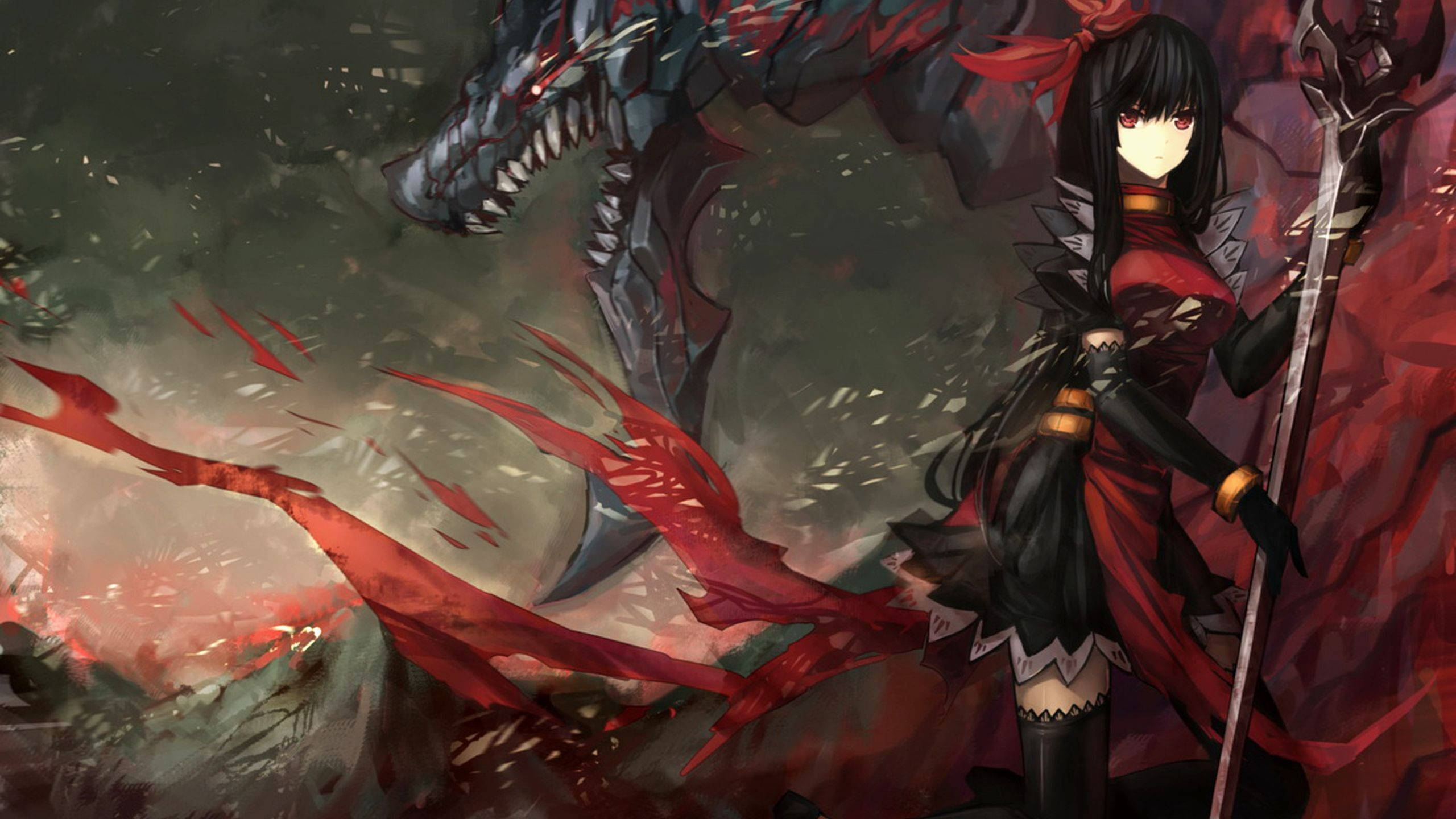 anime warrior girl   anime-girl-warrior-anime-hd-wallpaper-