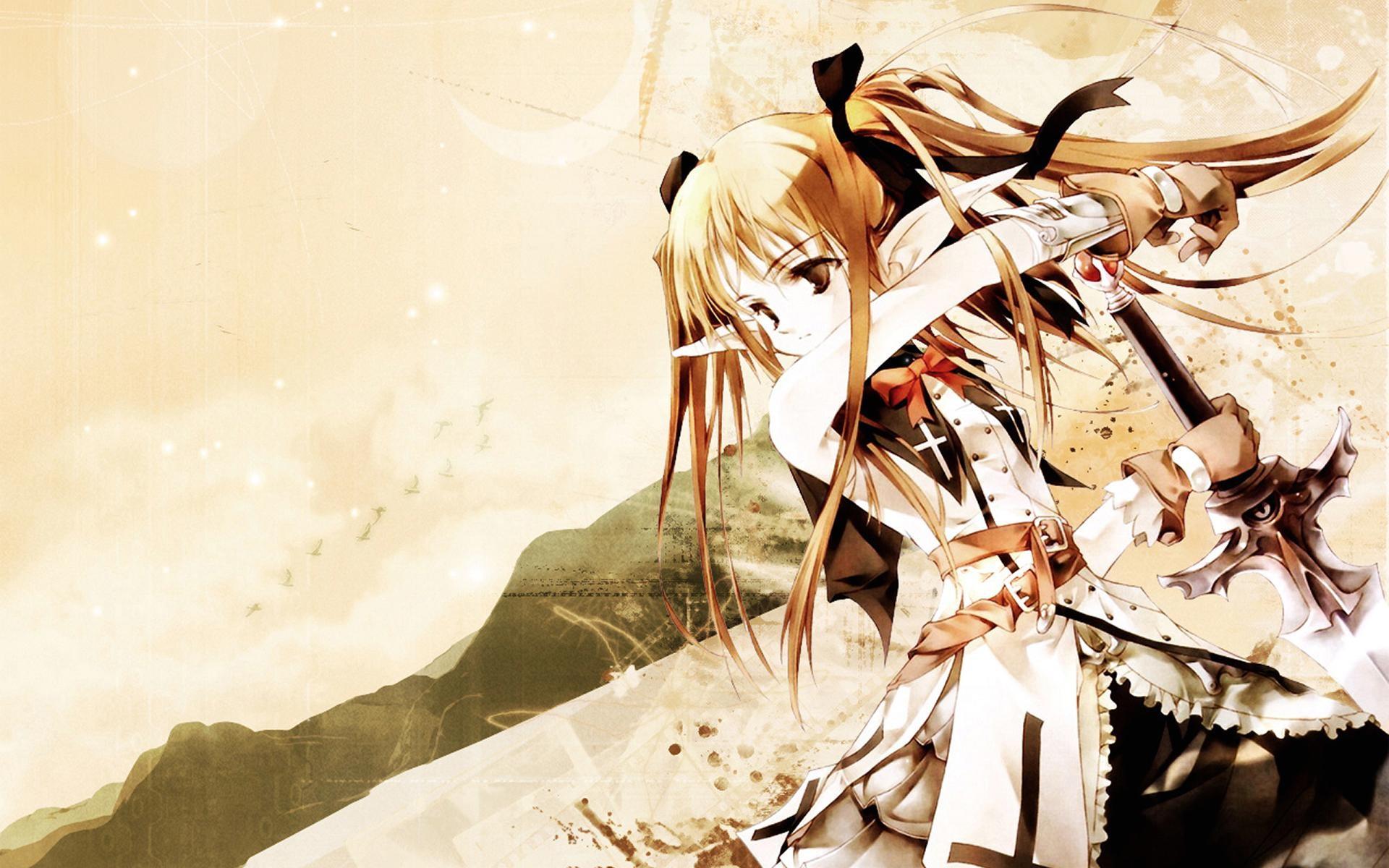 Japanese Anime Female Warrior   Wallpaper warrior girl anime