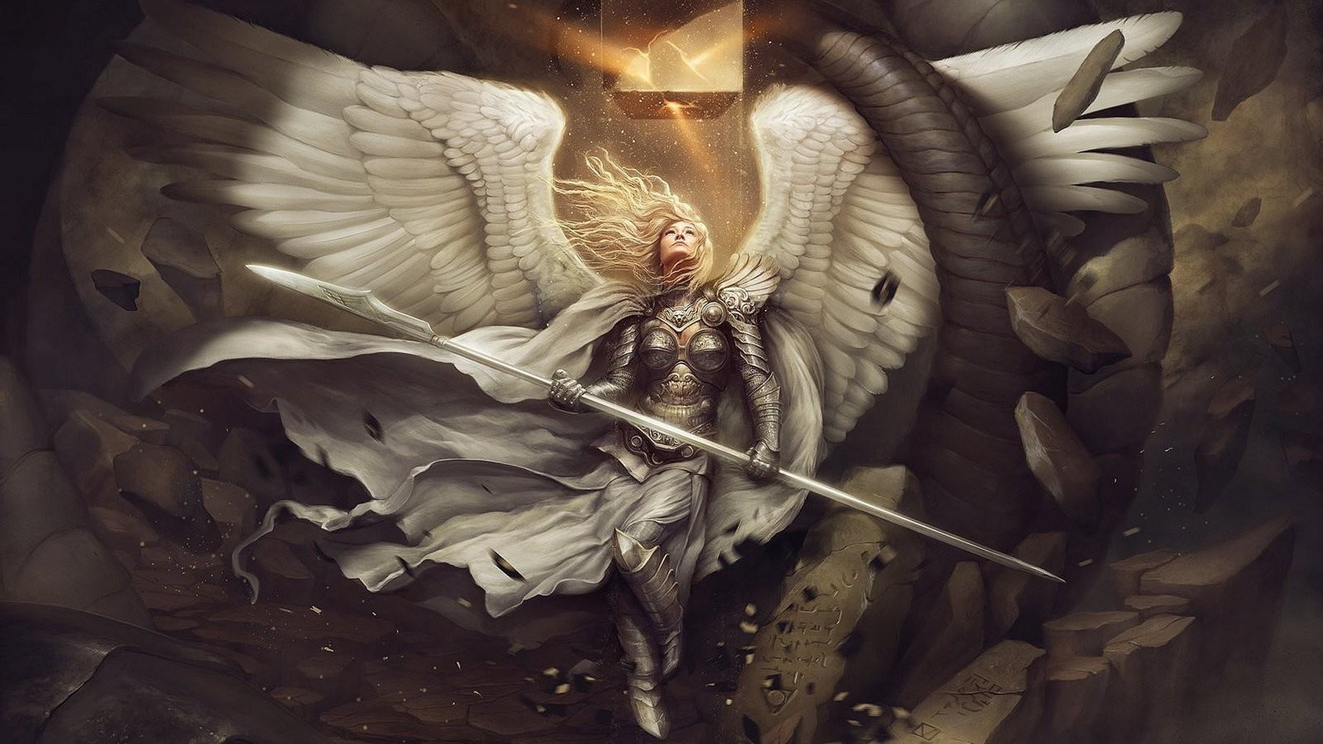 Angel Warrior Wing free iPhone or Android Full HD wallpaper.