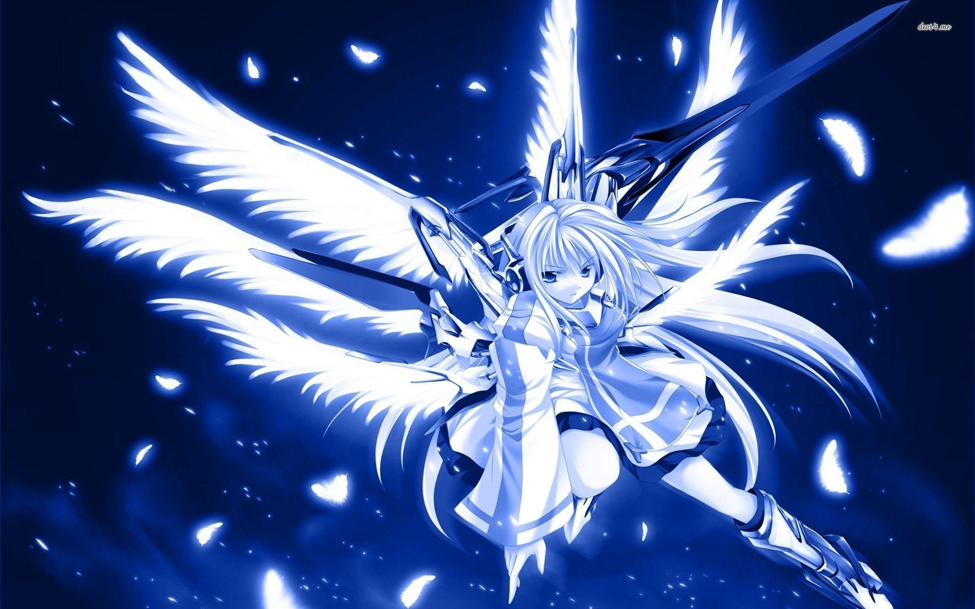 Blue warrior angel wallpaper – Anime wallpapers – #19305