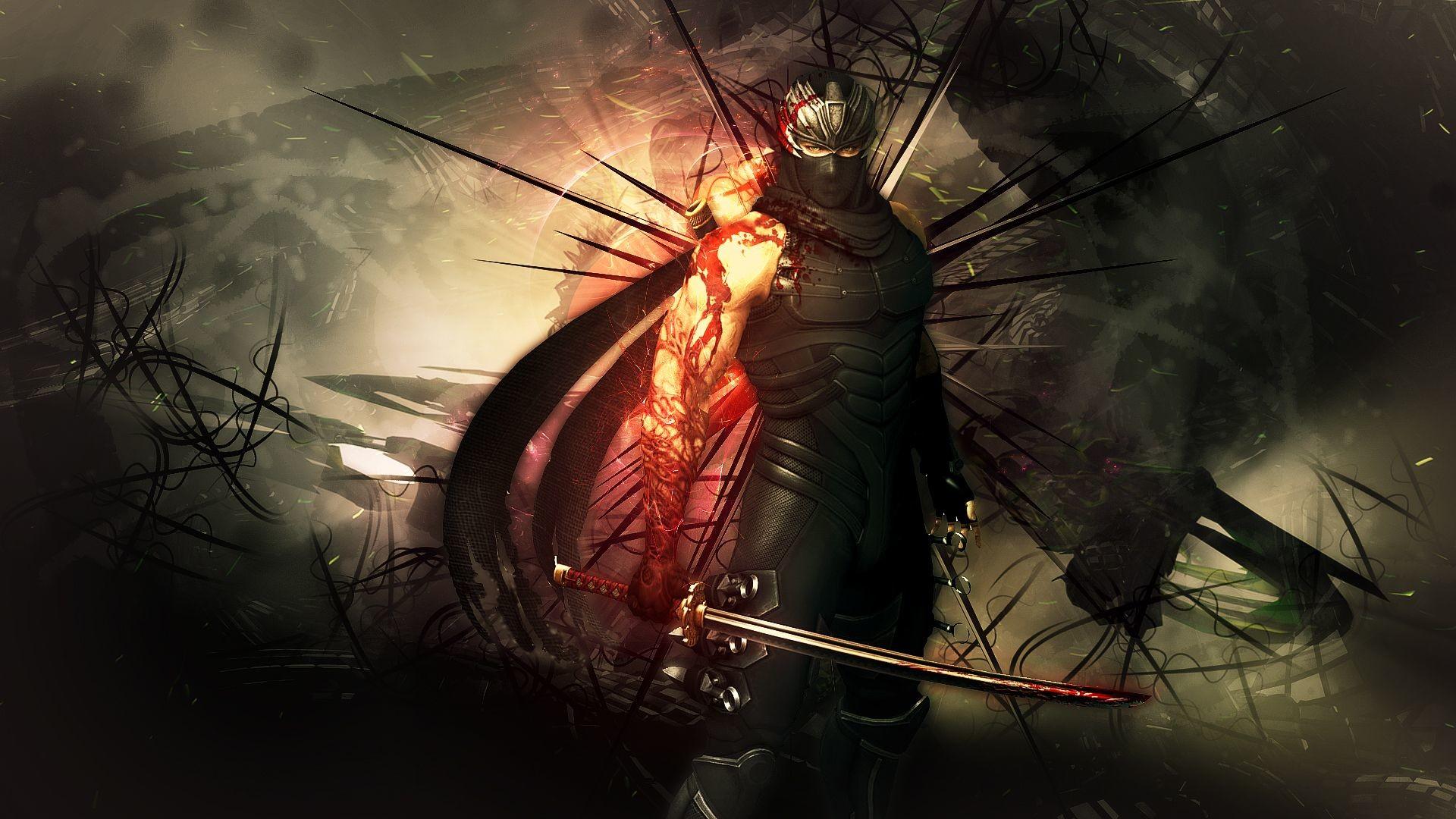 NINJA GAIDEN fantasy anime warrior weapon sword blood f wallpaper .