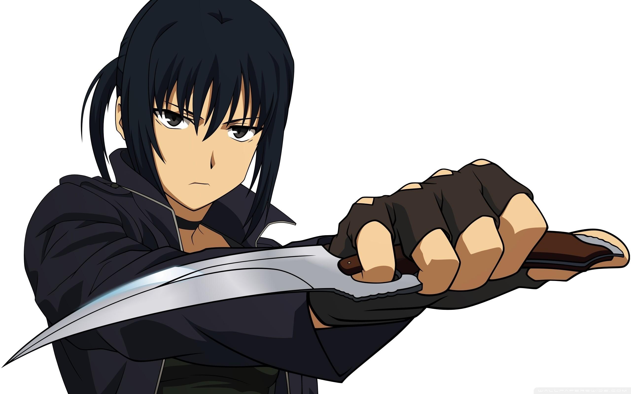 Wallpaper Guy, Anime, Knife, Warrior