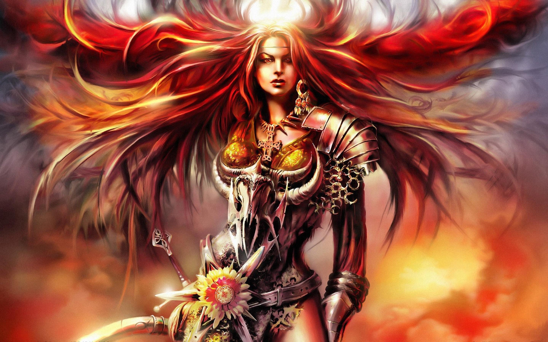 Anime Girl Warrior 764142 …