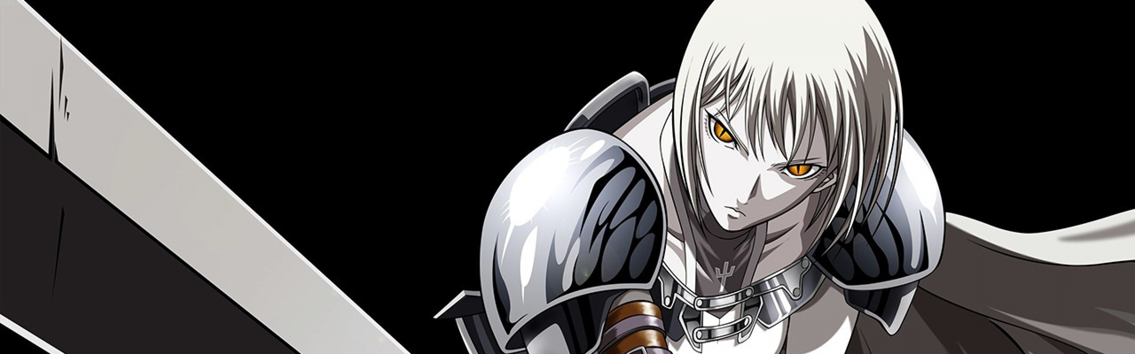Wallpaper anime, warrior, sword, posture, background