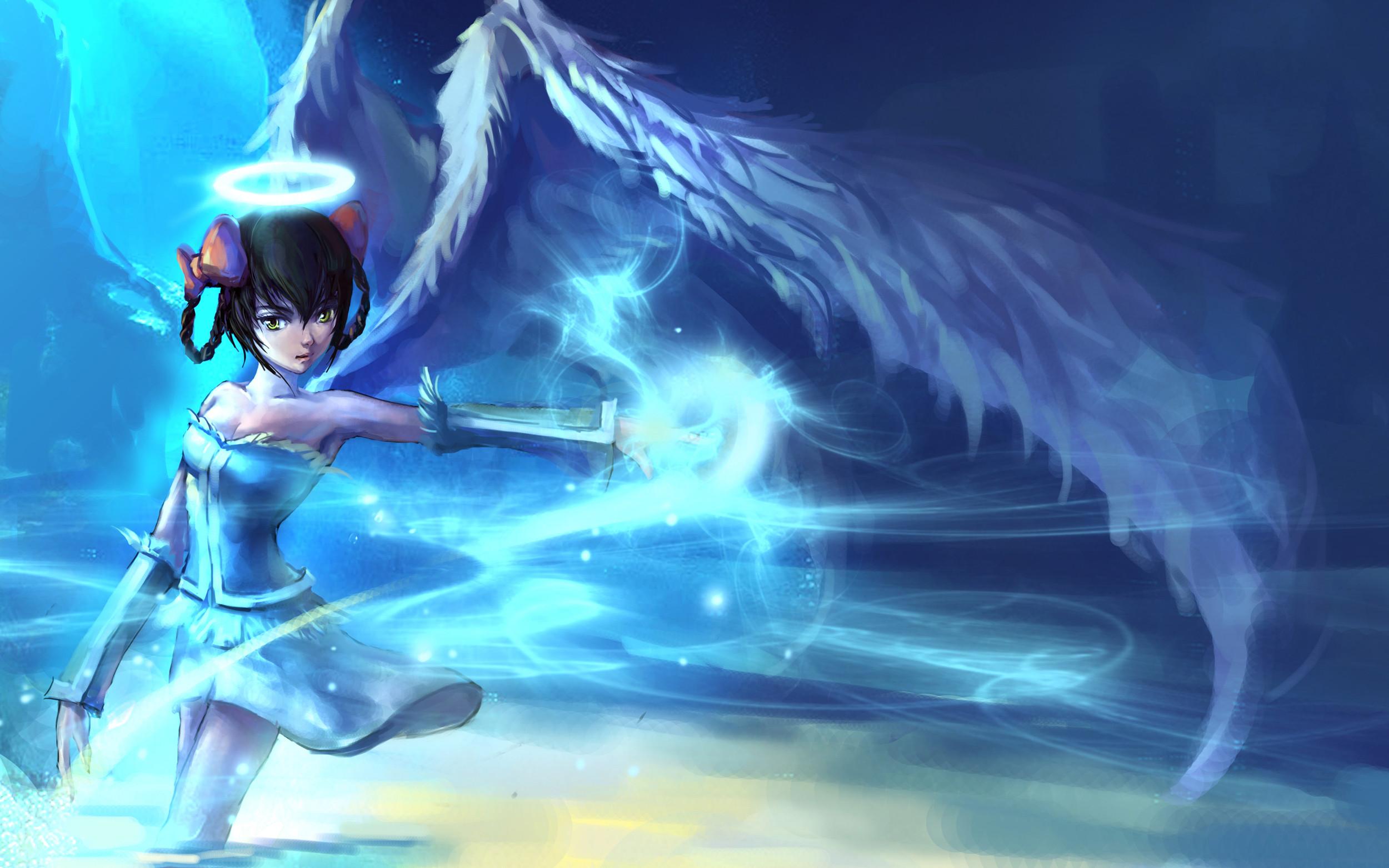 Anime 3d Wallpaper of Angel For Desktop