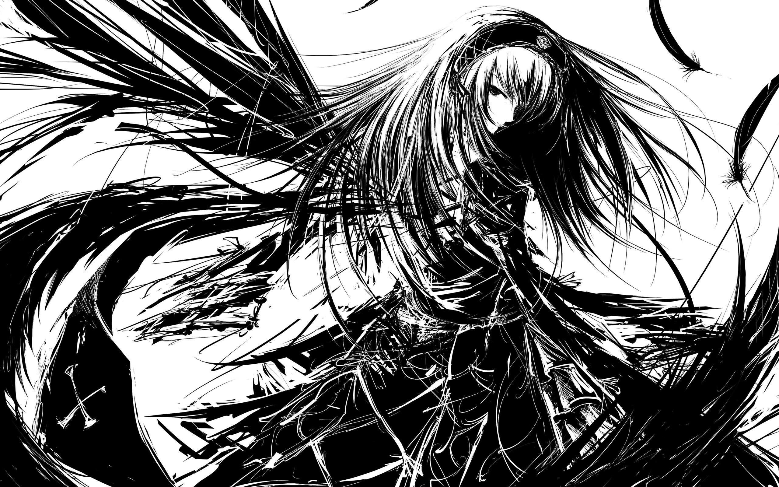 Dark Anime Angels Wallpaper #9968 Wallpaper   High Definition .