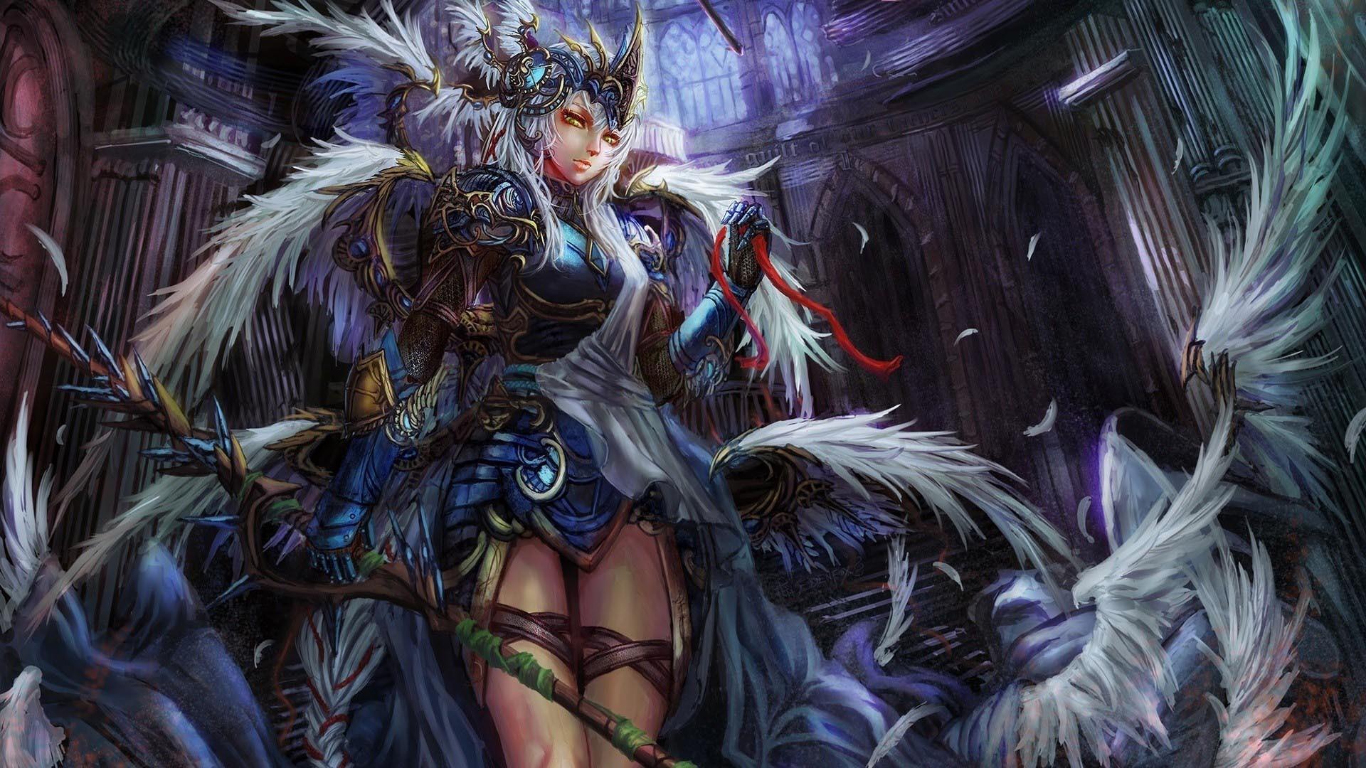Fantasy Girl Angel Wings Wallpaper