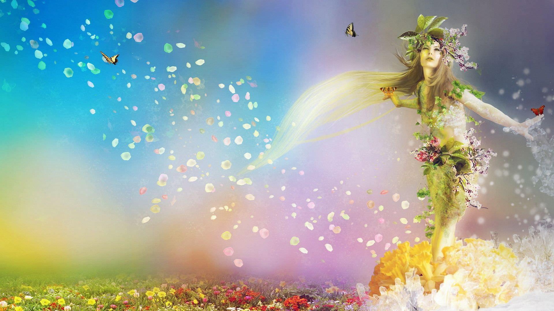 Animated Sky Angel Wallpaper