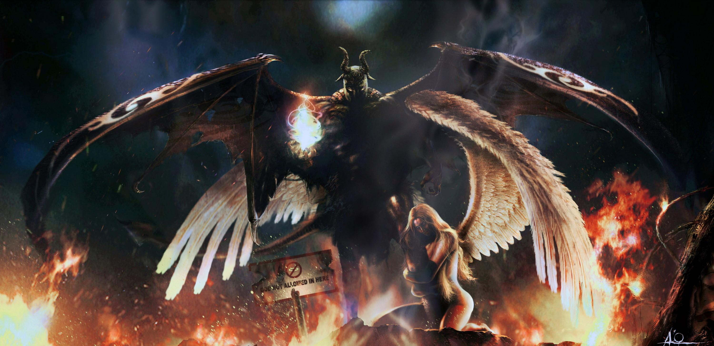 Wallpaper Fallen angel, angel, demon, devil desktop wallpaper » Anime .
