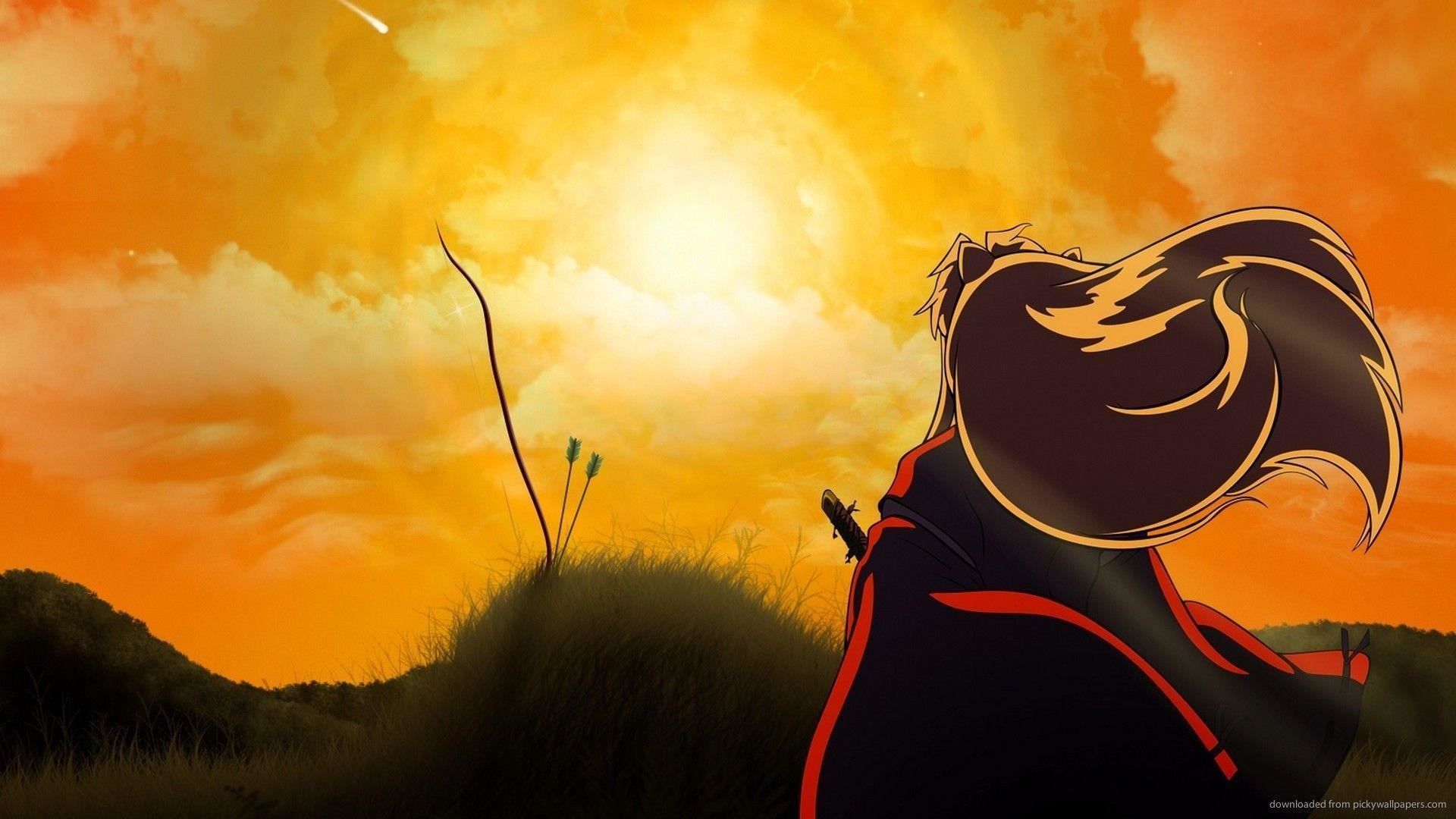 Inuyasha Looking At The Sunset Wallpaper For Blackberry Curve