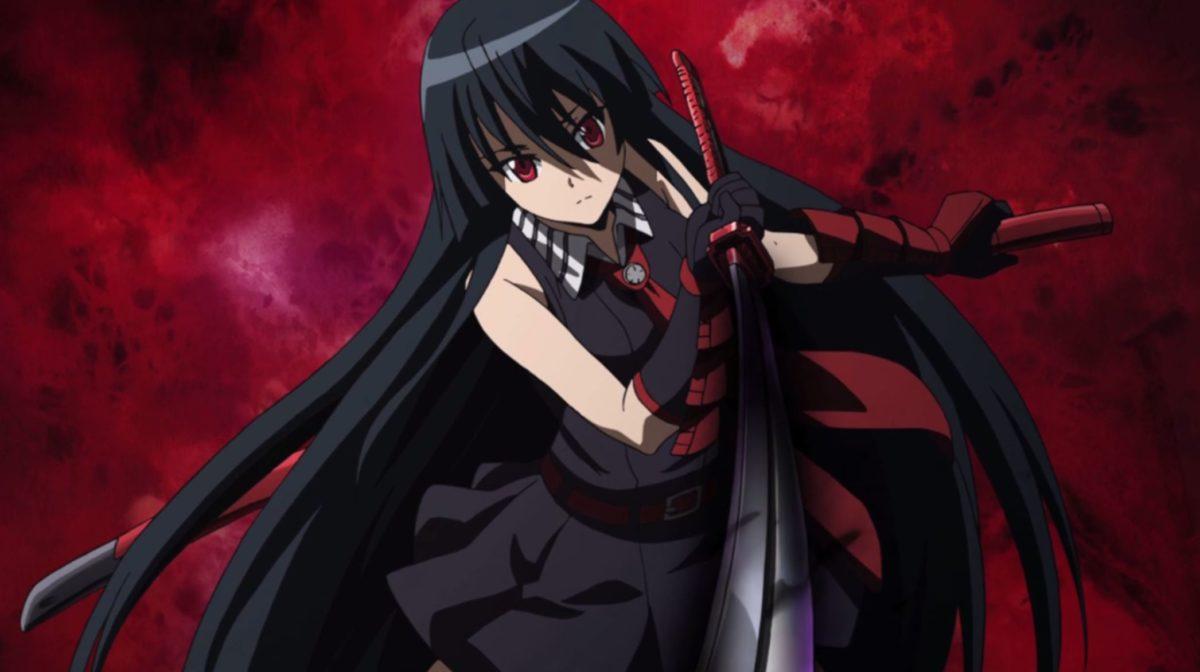 Akame Ga Kill Black Hair Red Eye Anime Girl Wallpaper