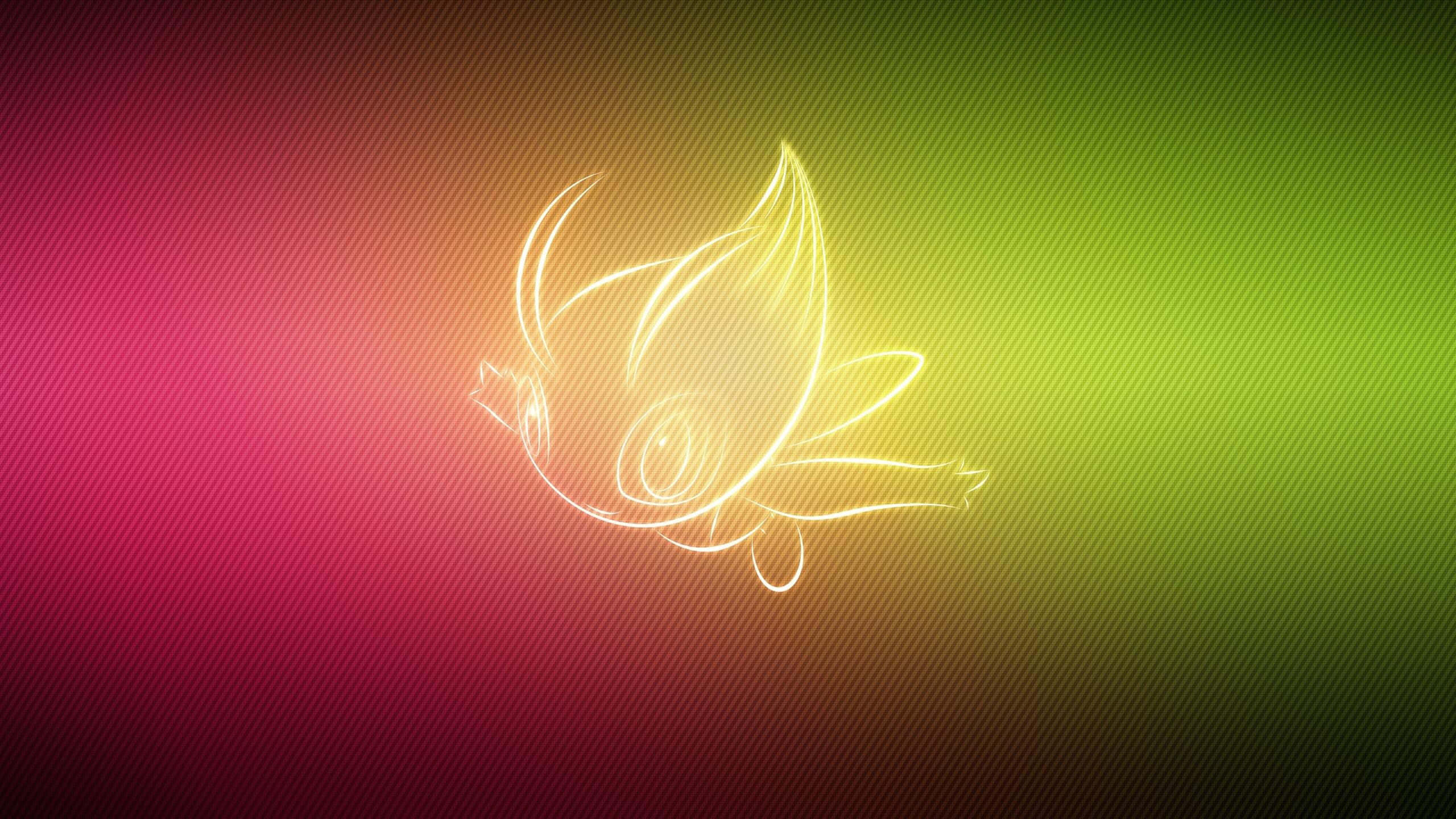 Preview wallpaper pokemon, form, celebi 2560×1440