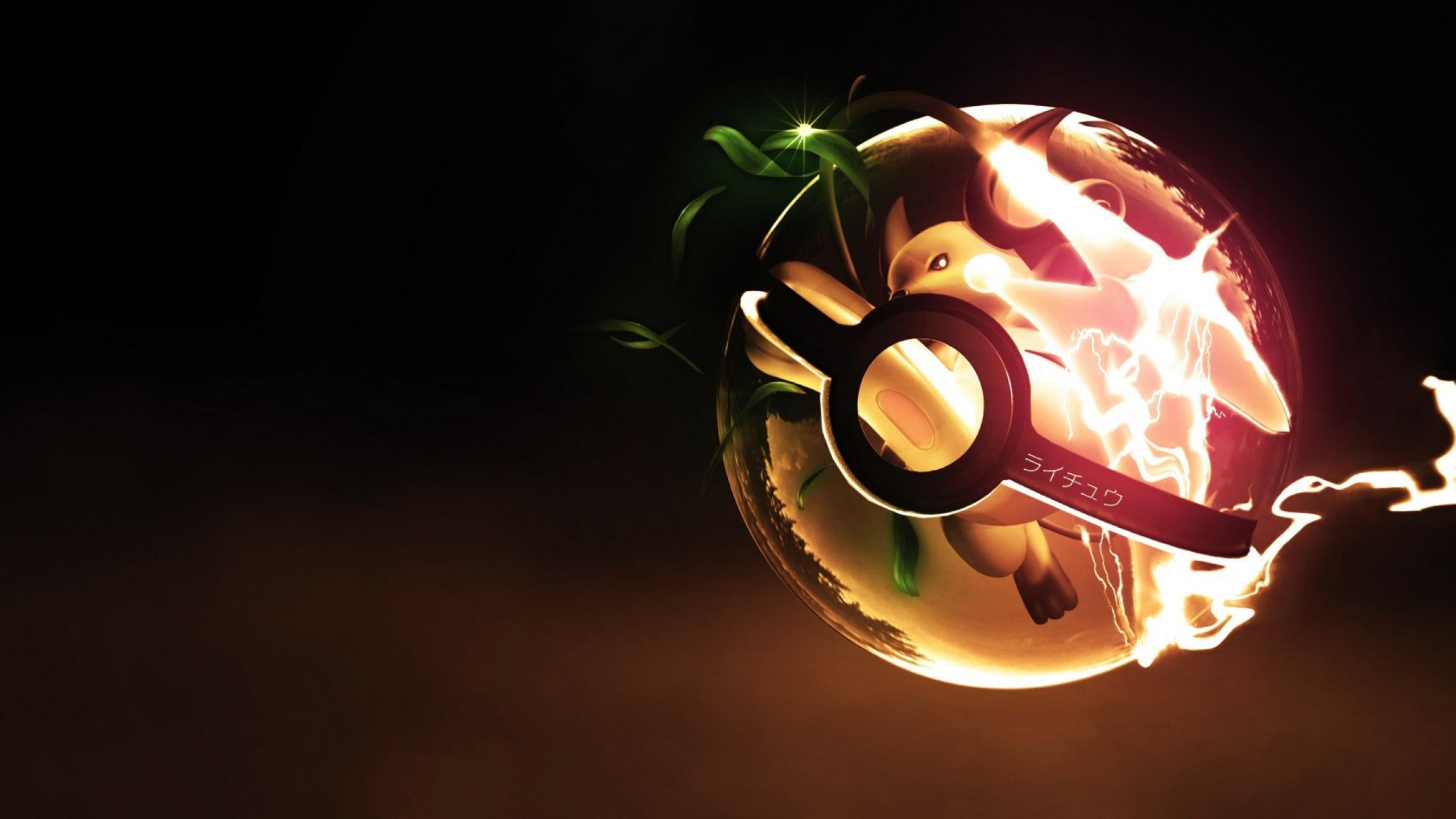 Preview wallpaper pokemon go, pokemon, raichu 2560×1440