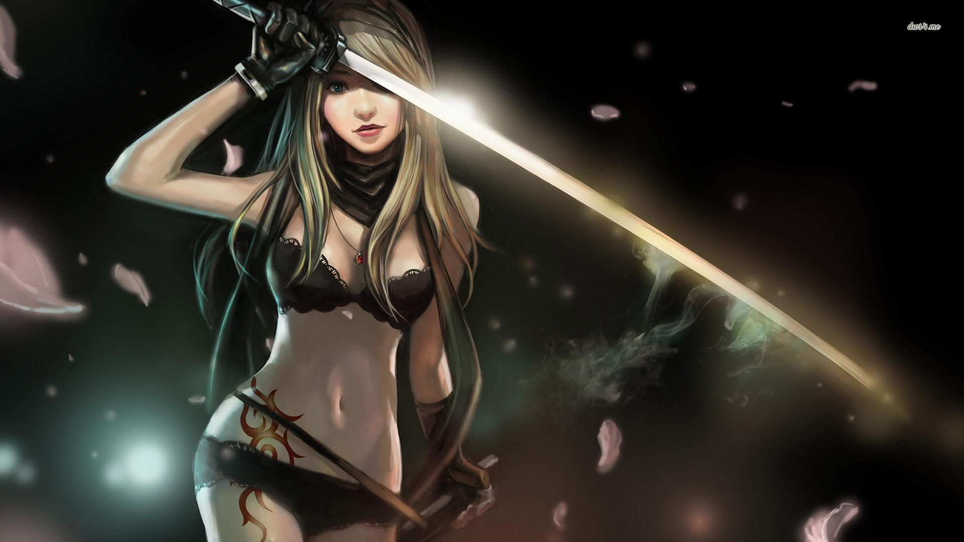 wallpaper Girl Anime Assassin Girl Wallpaper