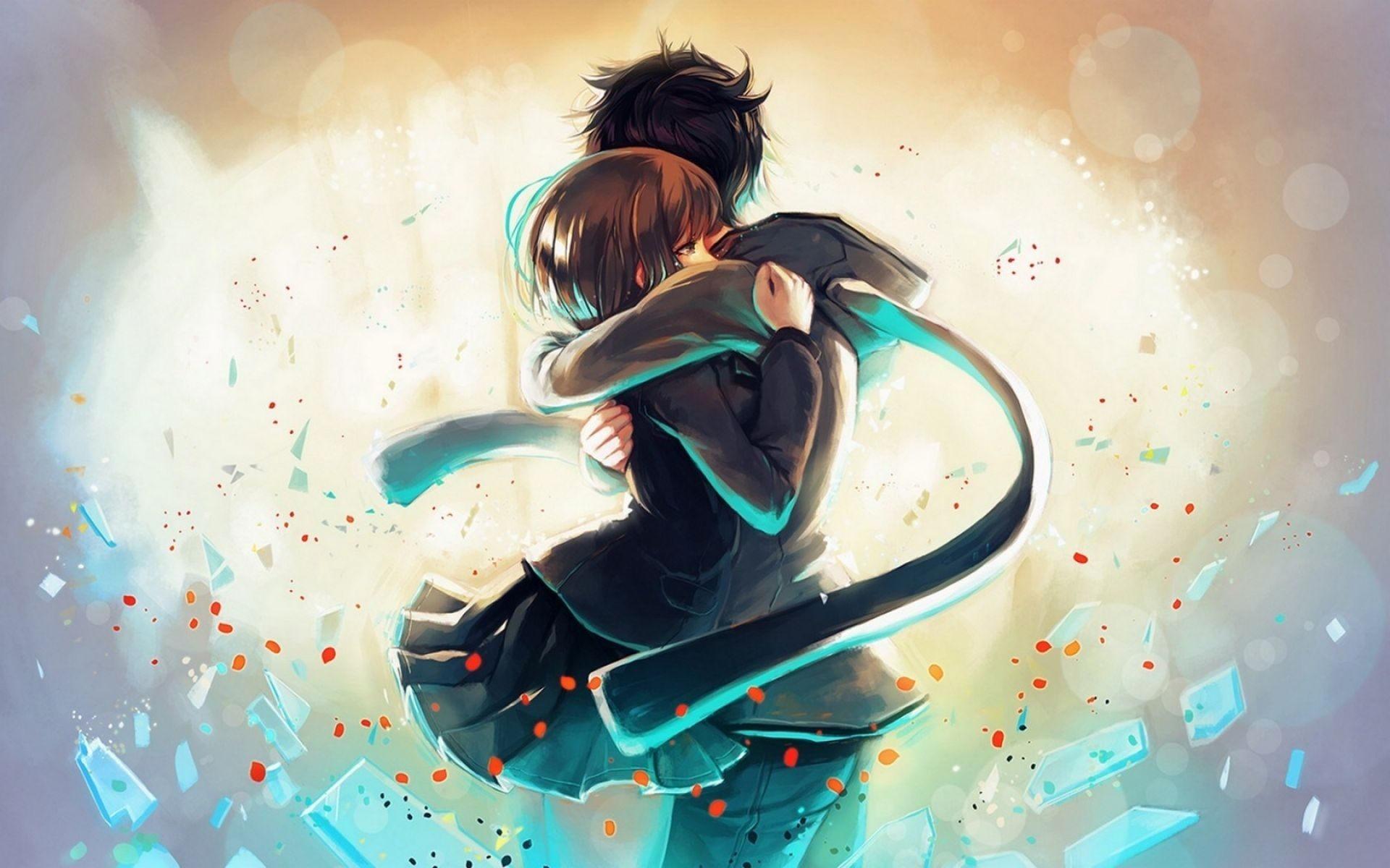 Hug Anime Couple
