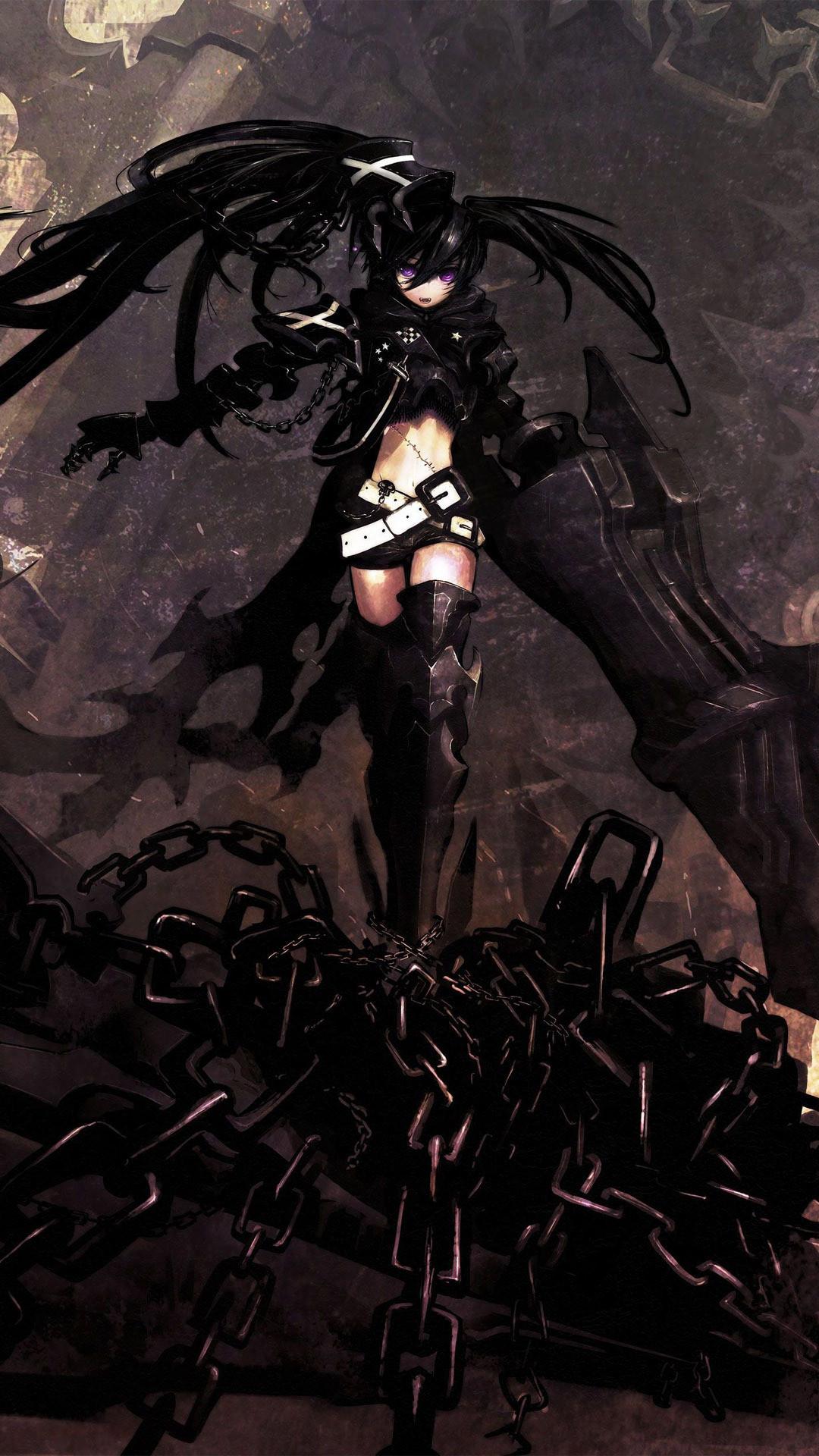 Anime • 76 downloads Black Rock Shooter · Black Rock Shooter Anime  mobile wallpaper