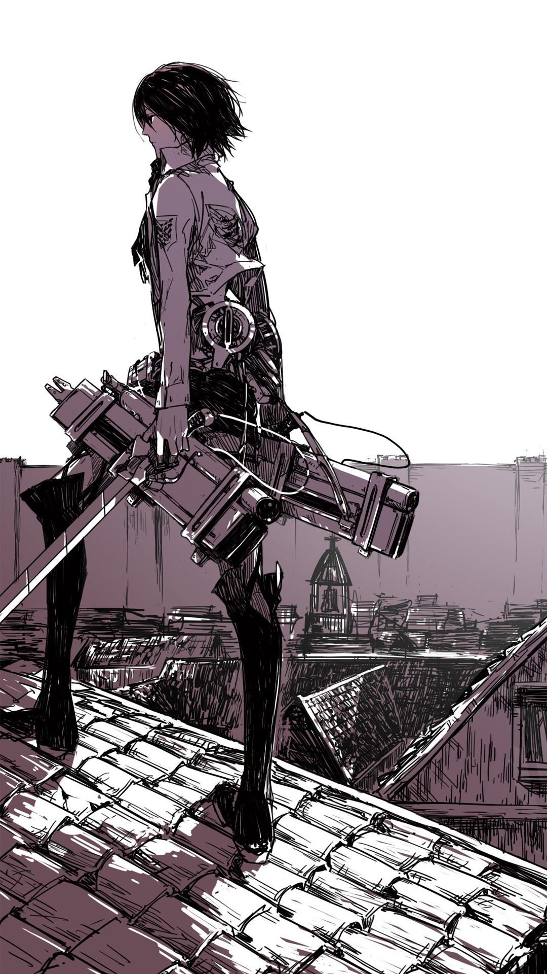… Mikasa Ackerman – Attack on Titan Anime mobile wallpaper