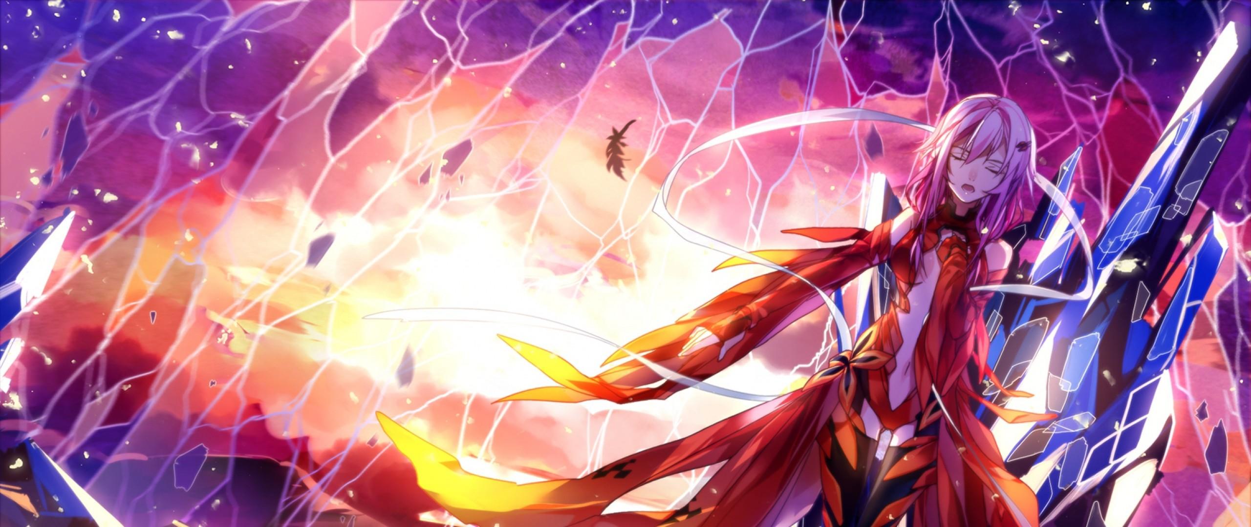 Download Wallpaper Guilty crown, Anime, Inori 21:9 .