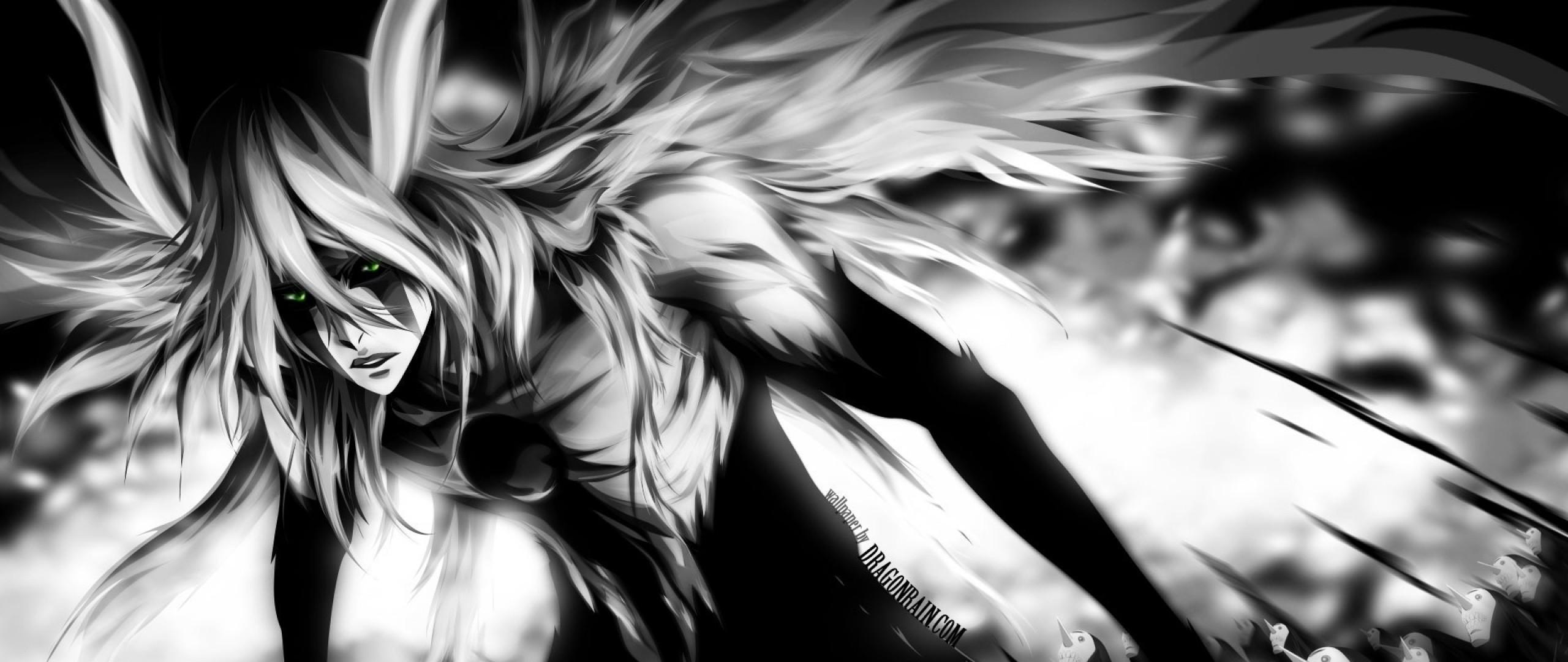 Wallpaper anime, ulquiorra, gillian, black and white, background