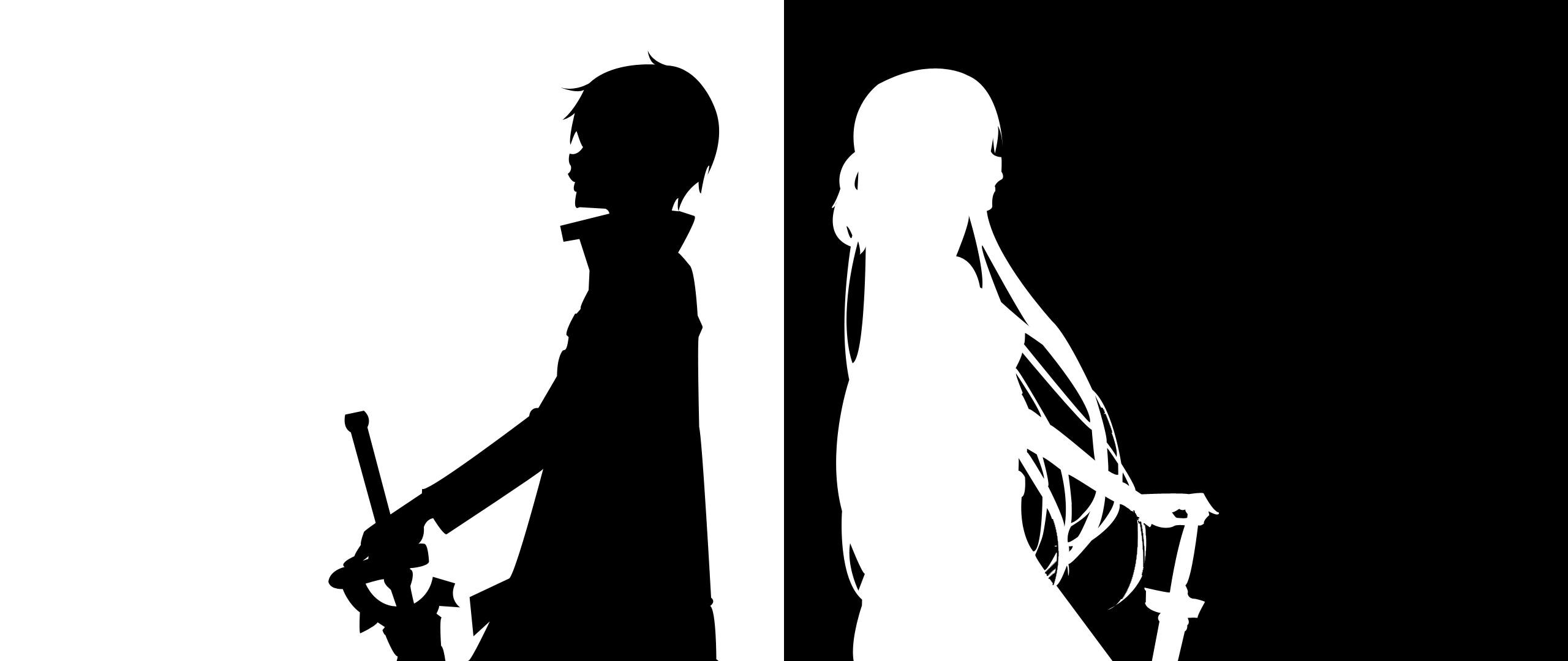 Anime B&W [2560×1080] …