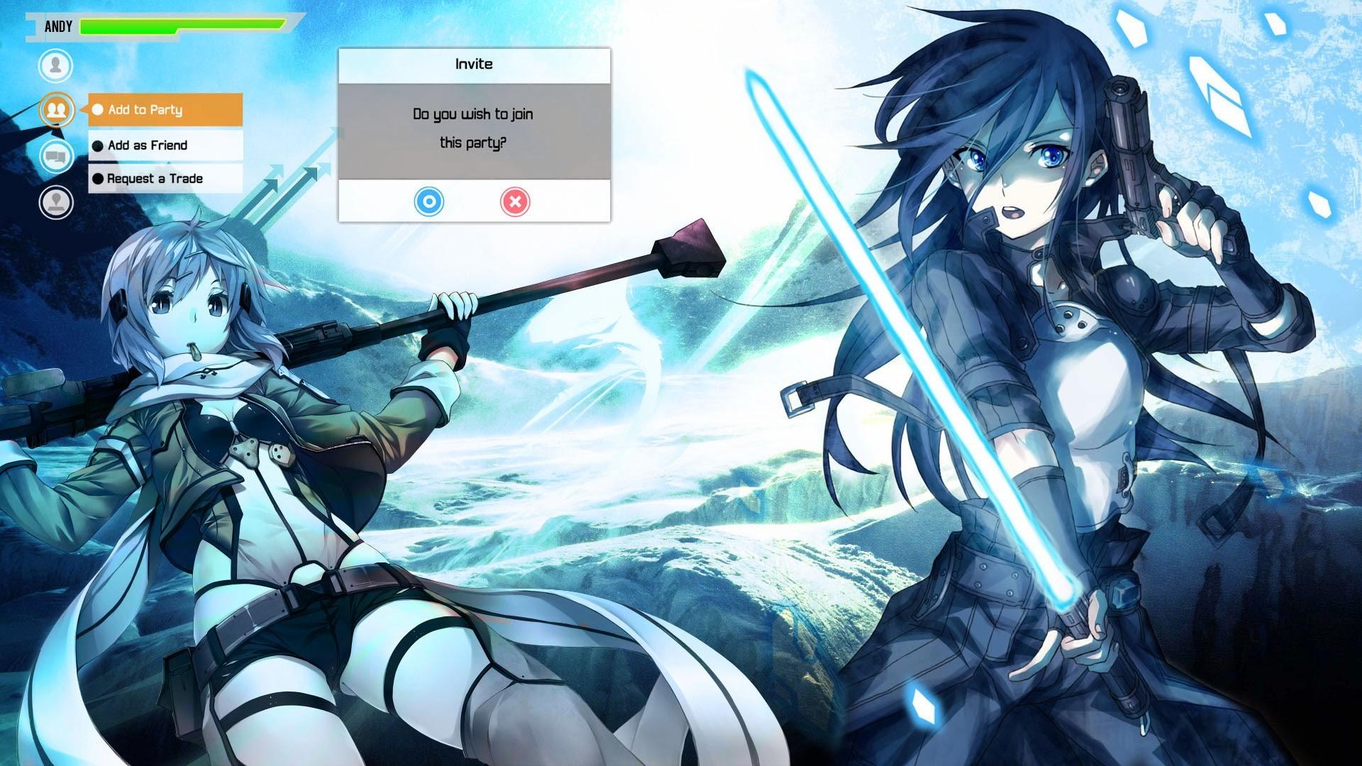 sinon kirito sword art online 2 gun gale online anime 2014 hd .