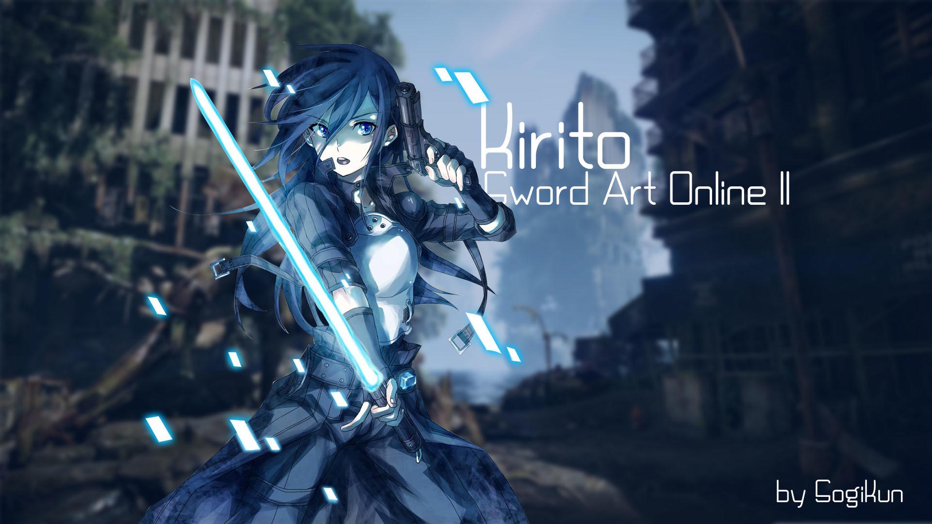 … Sword Art Online II – Kirito Wallpaper by SogiKun