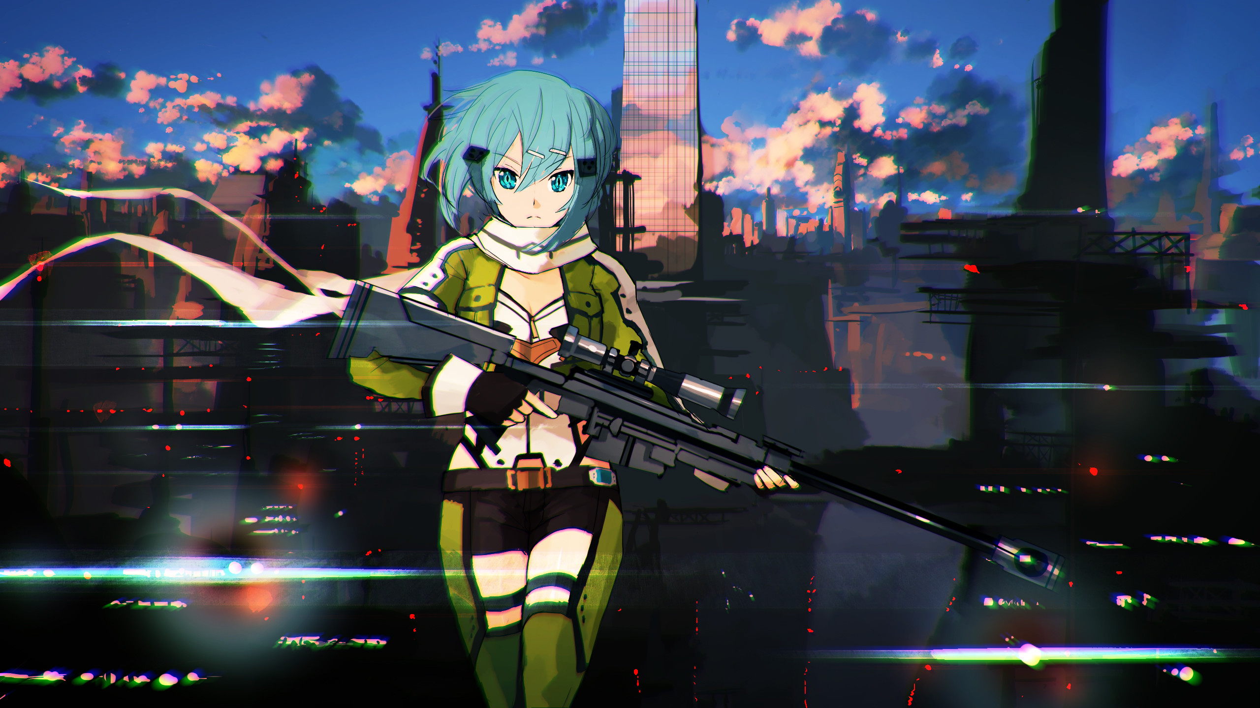 Ready For Shooting, Sword Art Online Wallpaper, Hd Image, Picture