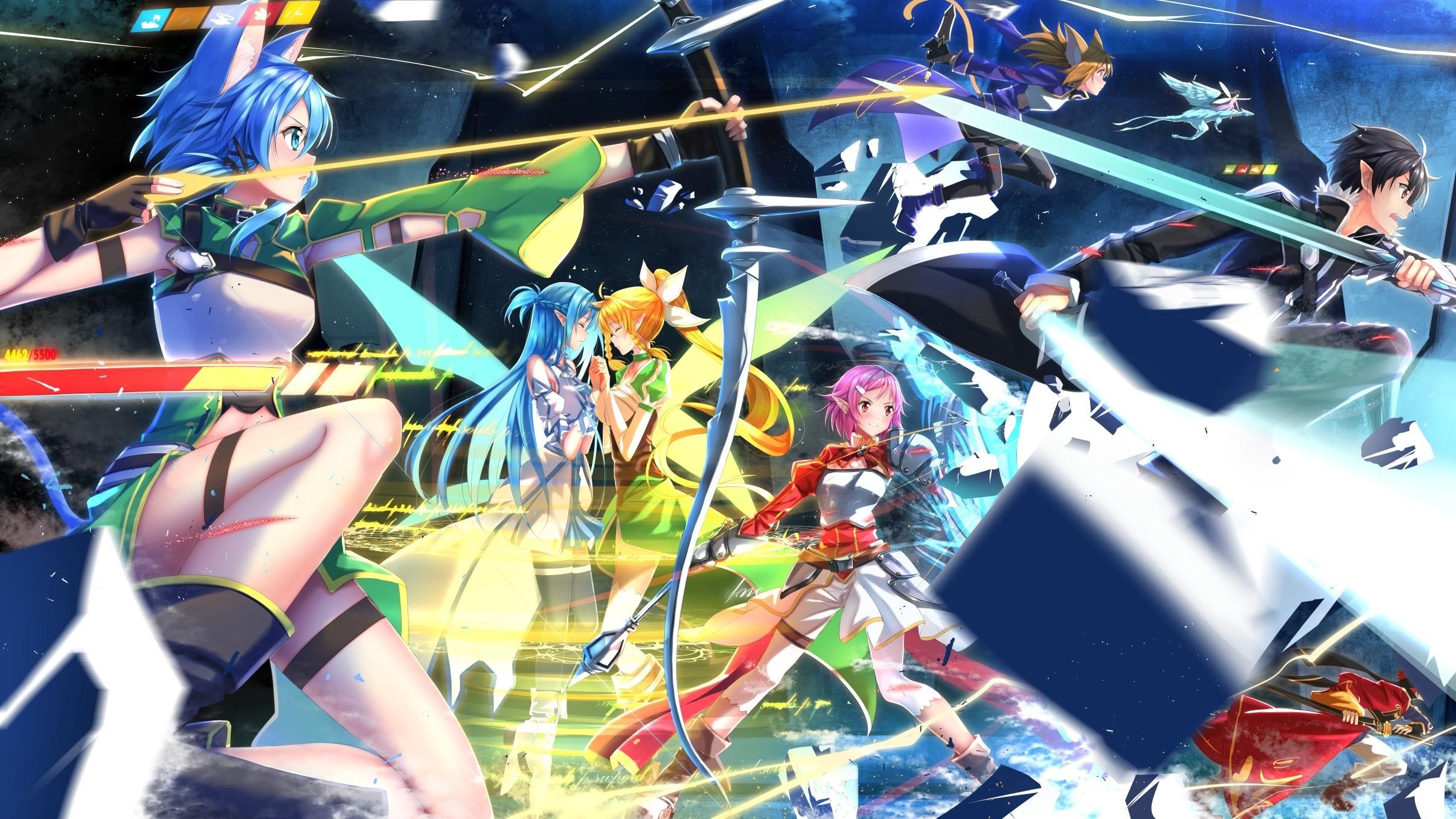 Anime – Sword Art Online II Sinon (Sword Art Online) Suguha Kirigaya Asuna  Yuuki