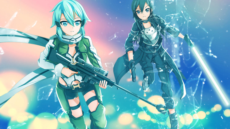 Anime – Sword Art Online II Sinon (Sword Art Online) Asada Shino Kirito (