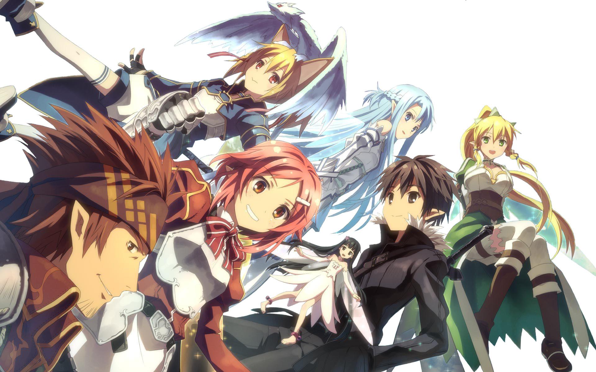 Anime – Sword Art Online II Silica (Sword Art Online) Kirito (Sword Art