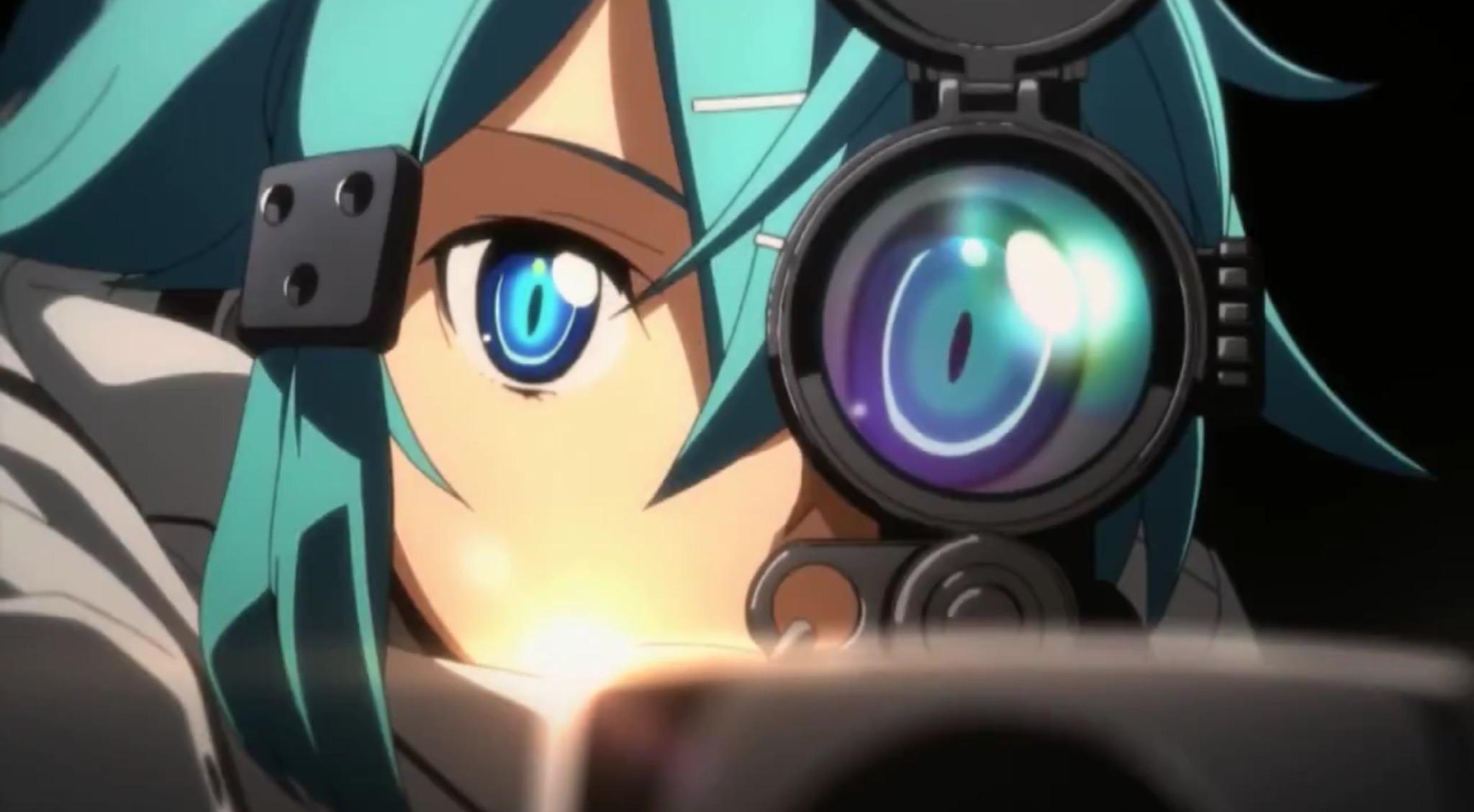"Sword Art Online 2… Death Gun, Sinon & Kirito | Shido ""Sinon"" Asada |  Pinterest | Sword art online, Sword art and Art online"