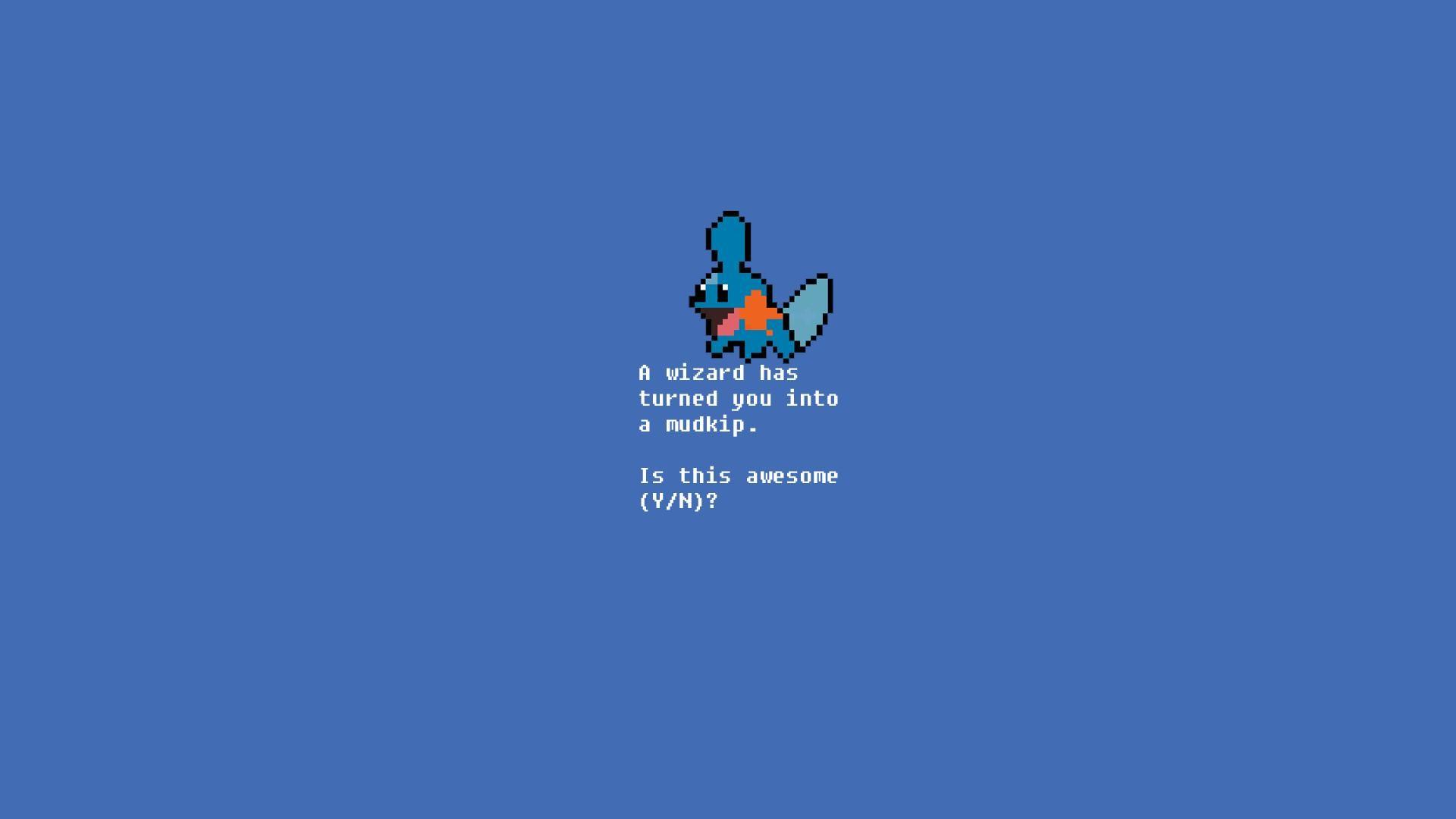 8-bit Mudskip Pokemon Wallpaper