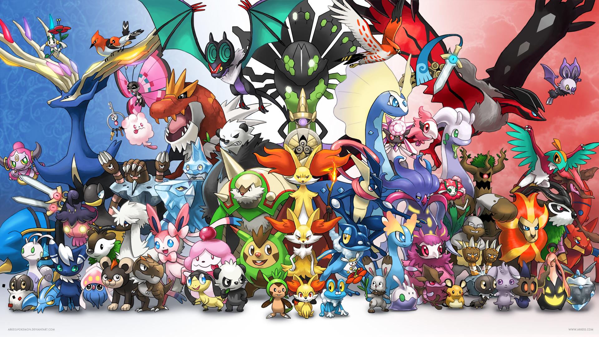 … [Wallpaper] Generation 6 by arkeis-pokemon