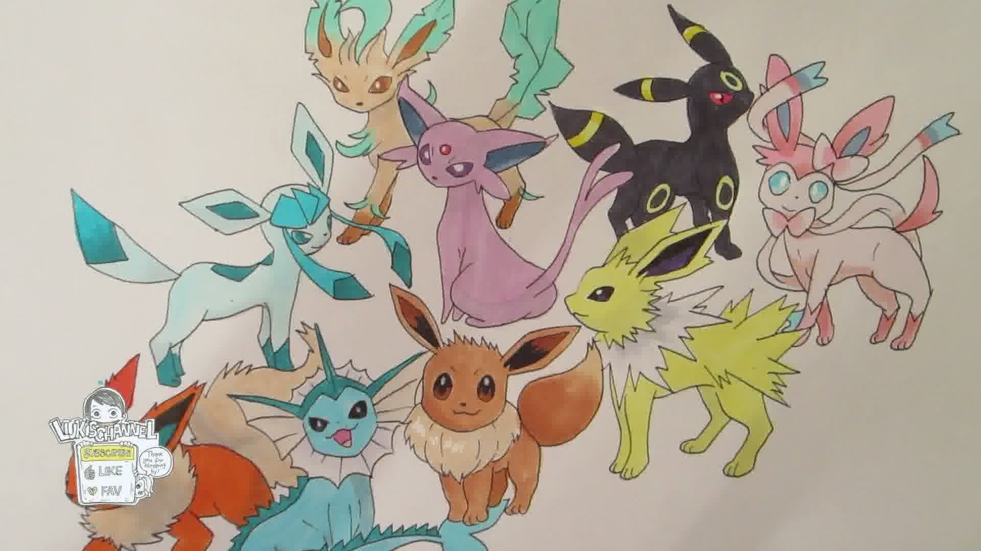 133 Eevee and all its evolutions (REMAKE) – YouTube
