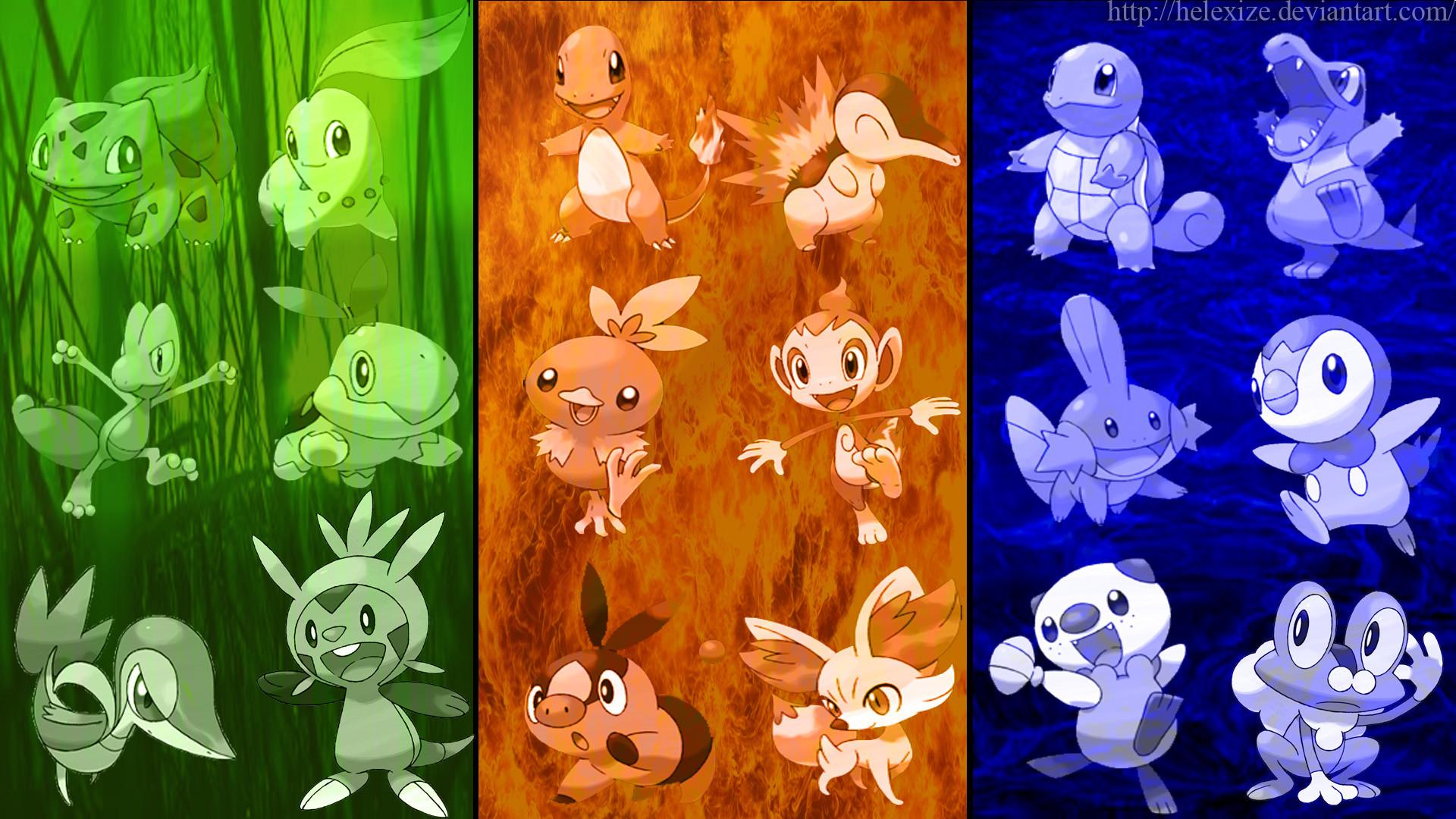 … Pokemon: All Starters Wallpaper(generation 1-6) by EfoSxD