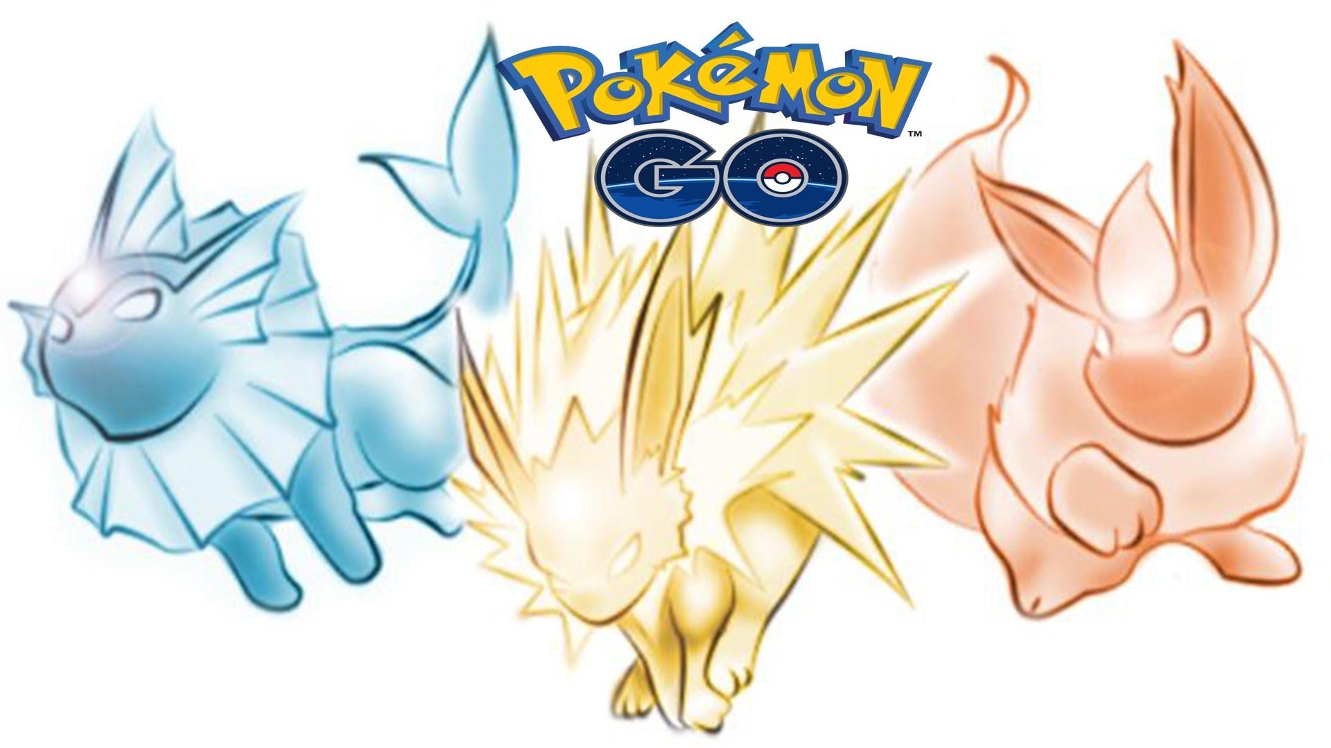 Pokemon Go Eevee Evolutions – Jolteon, Vaporeon and Flareon